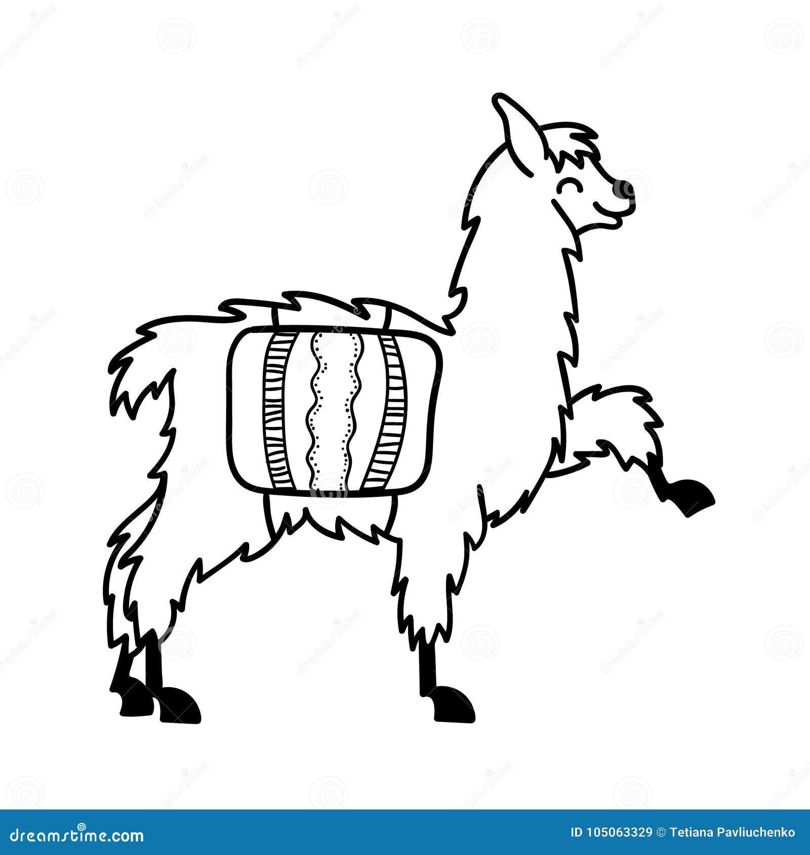 Llama Aislada Del Bebé De La Historieta Del Esquema