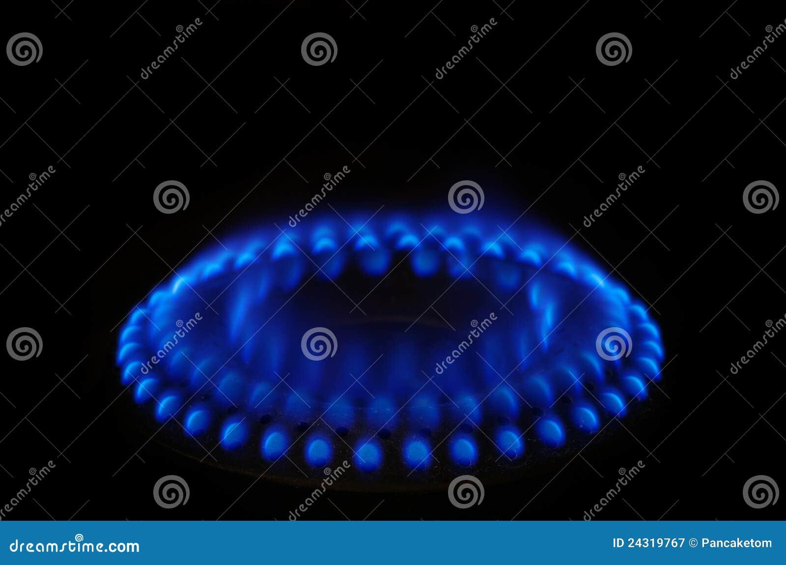 Llama azul de la estufa de gas fotograf a de archivo libre - Estufas de llama azul ...