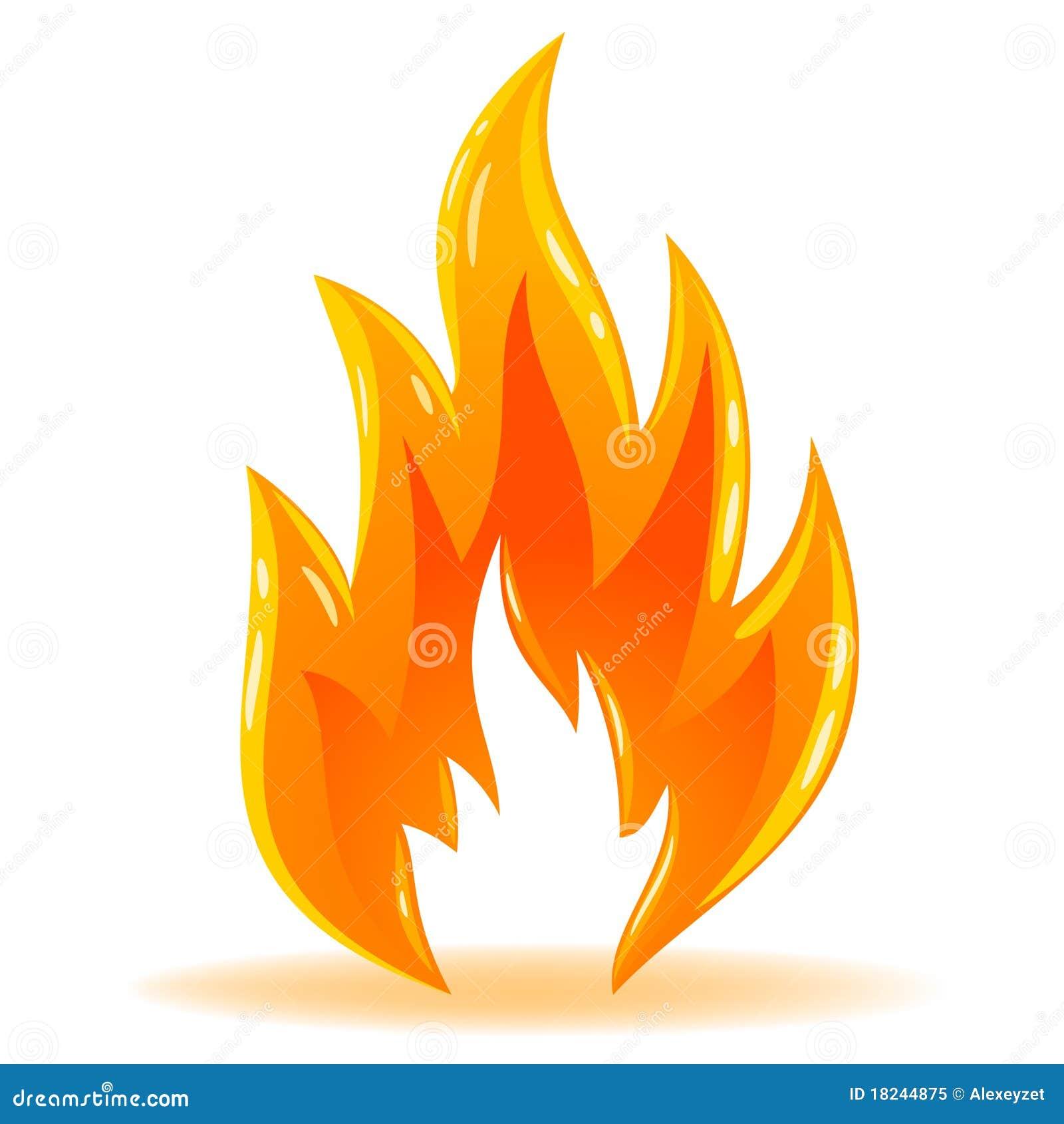 Llama brillante del fuego del símbolo del vector
