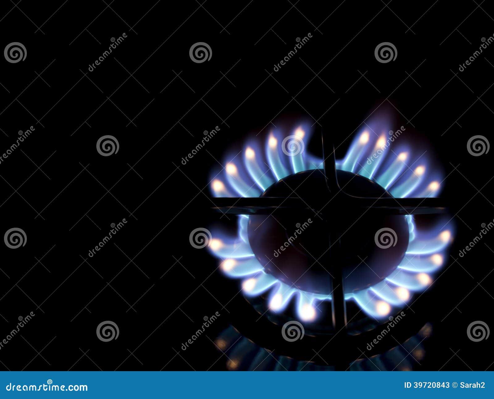 Llama de la cocina de gas hotplate fondo negro imagen for Llama en la cocina