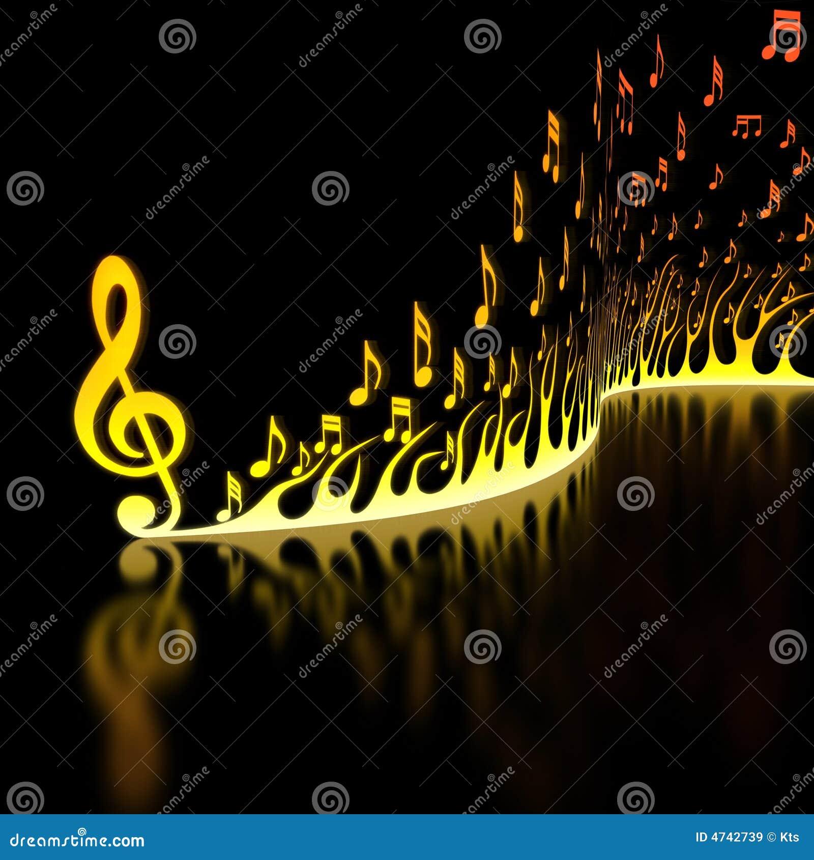 Fondo Musical Notas Del Color Ilustración Del Vector Ilustración