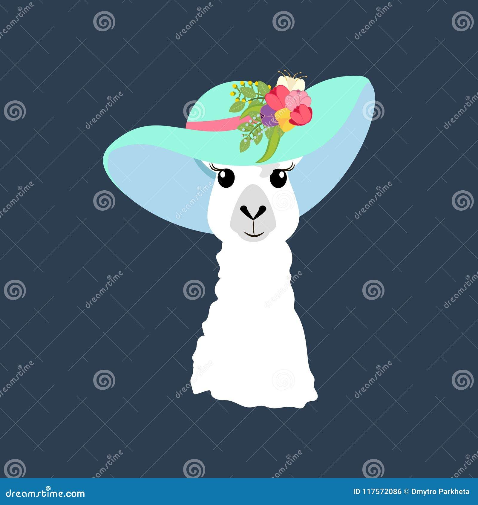 Llama en el ejemplo del sombrero