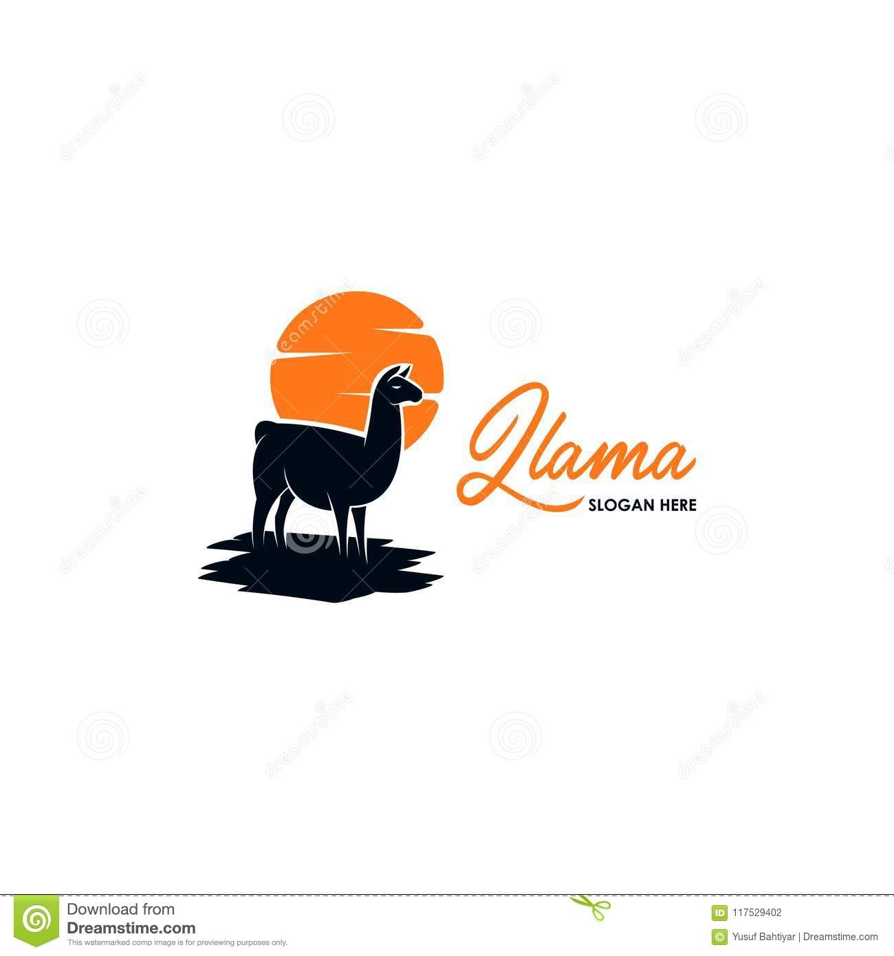 llama logo logo template for your business stock illustration