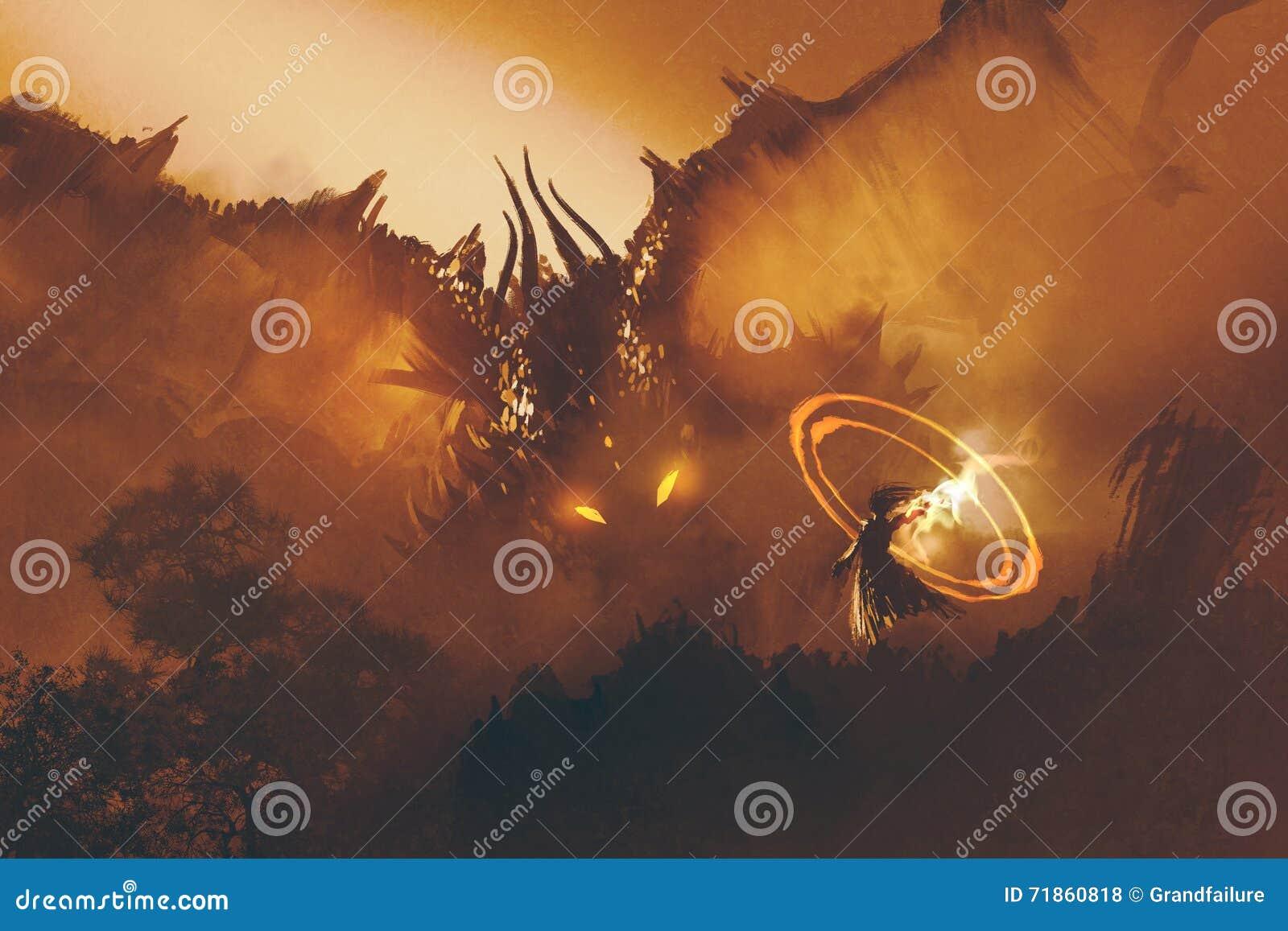 Llamada del dragón, pintura digital