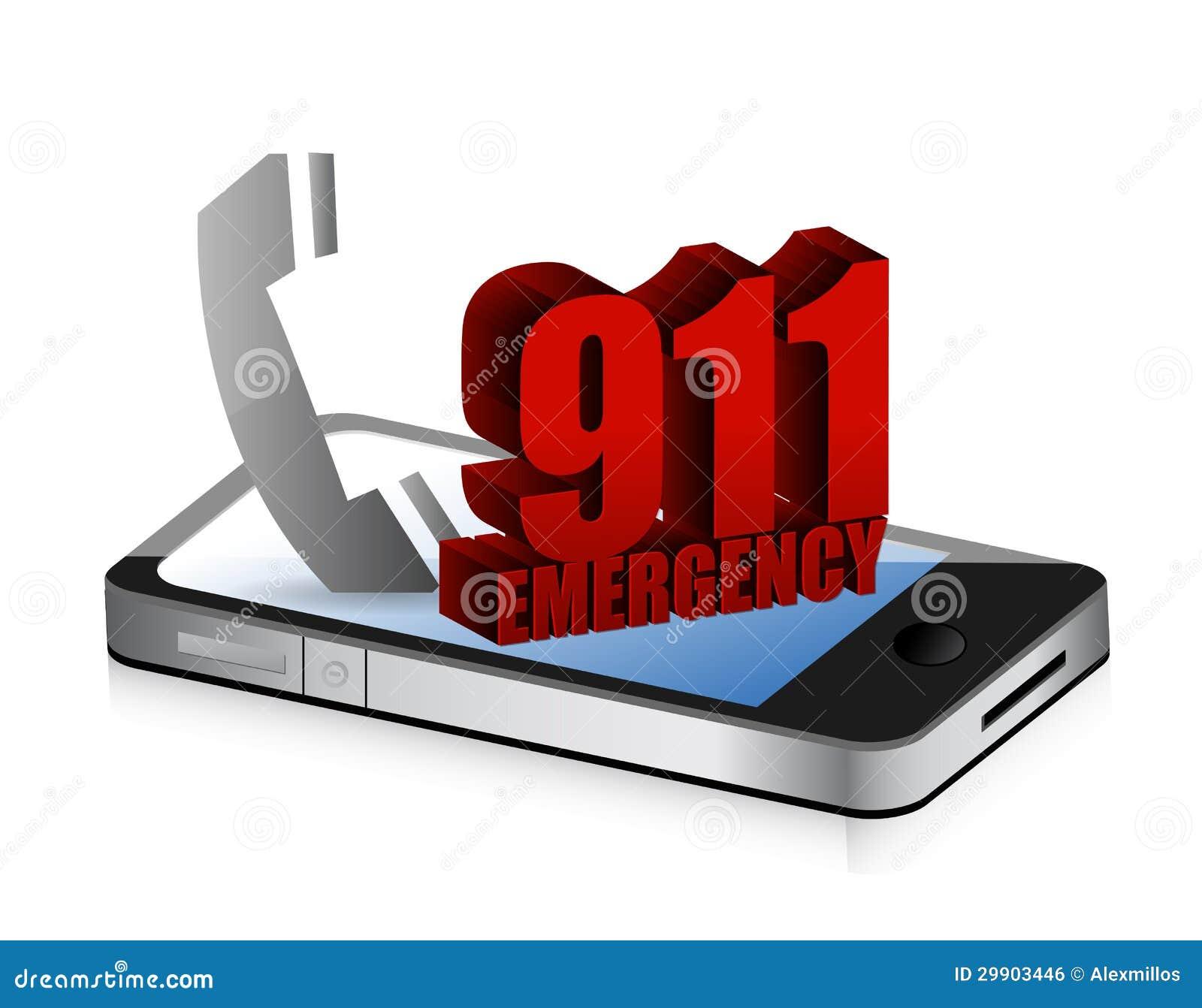 Llamada del smartphone de la emergencia