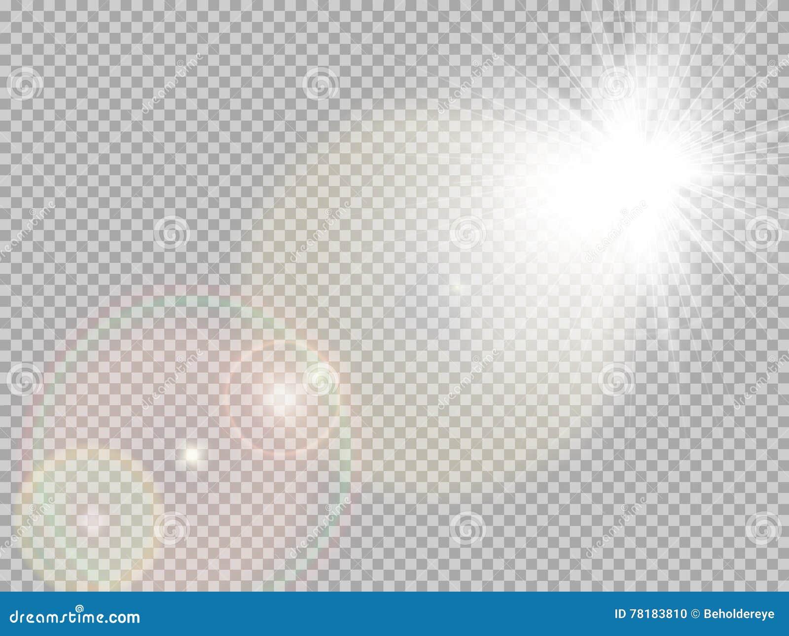 Llamarada especial de la lente de la luz del sol EPS 10