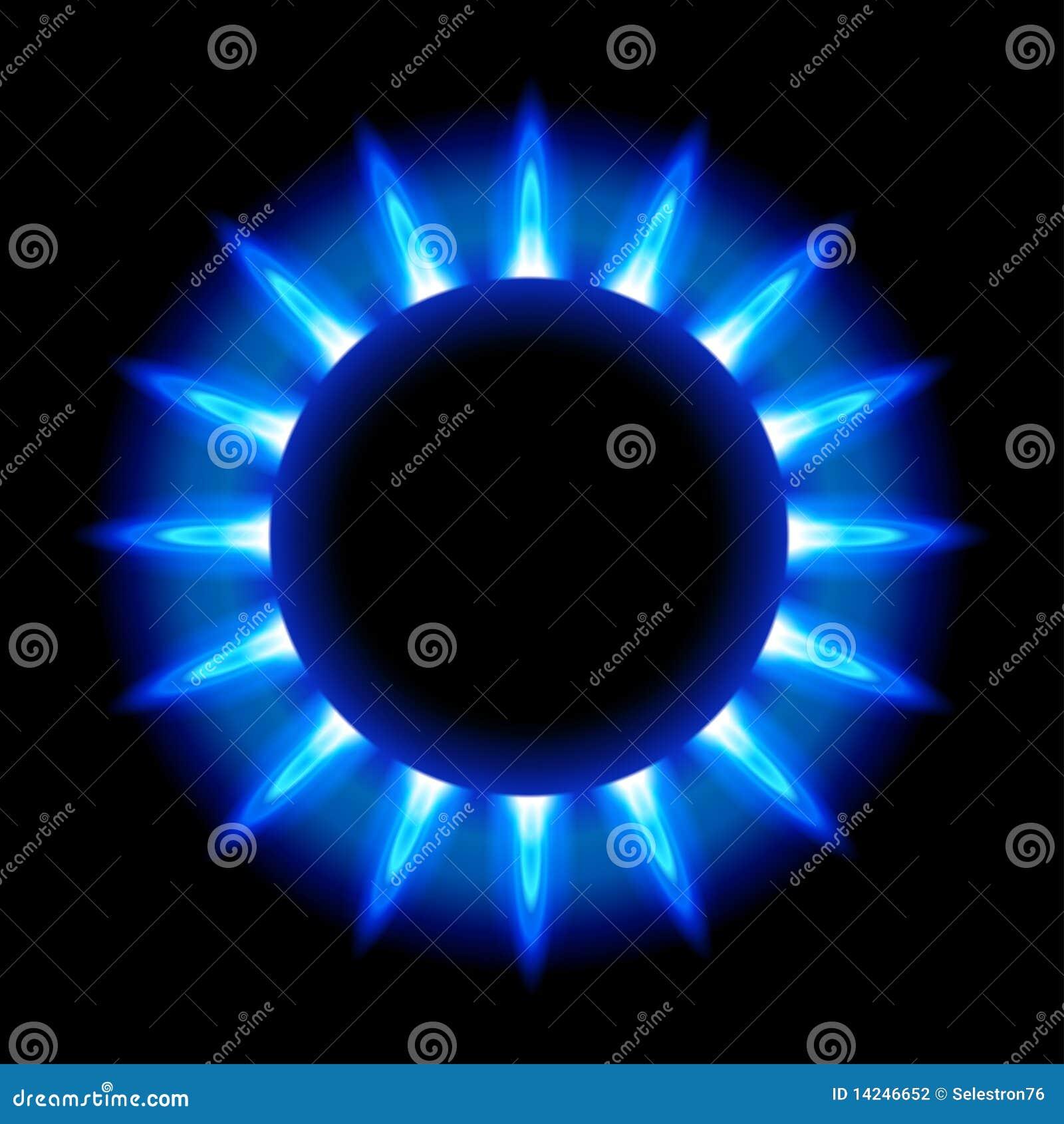 Llamas azules de un gas natural ardiente fotograf a de for Imagenes de gas natural