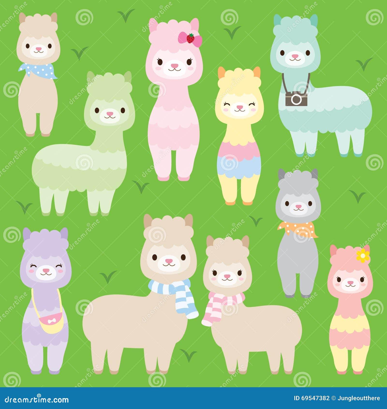 Llamas lindas de las alpacas