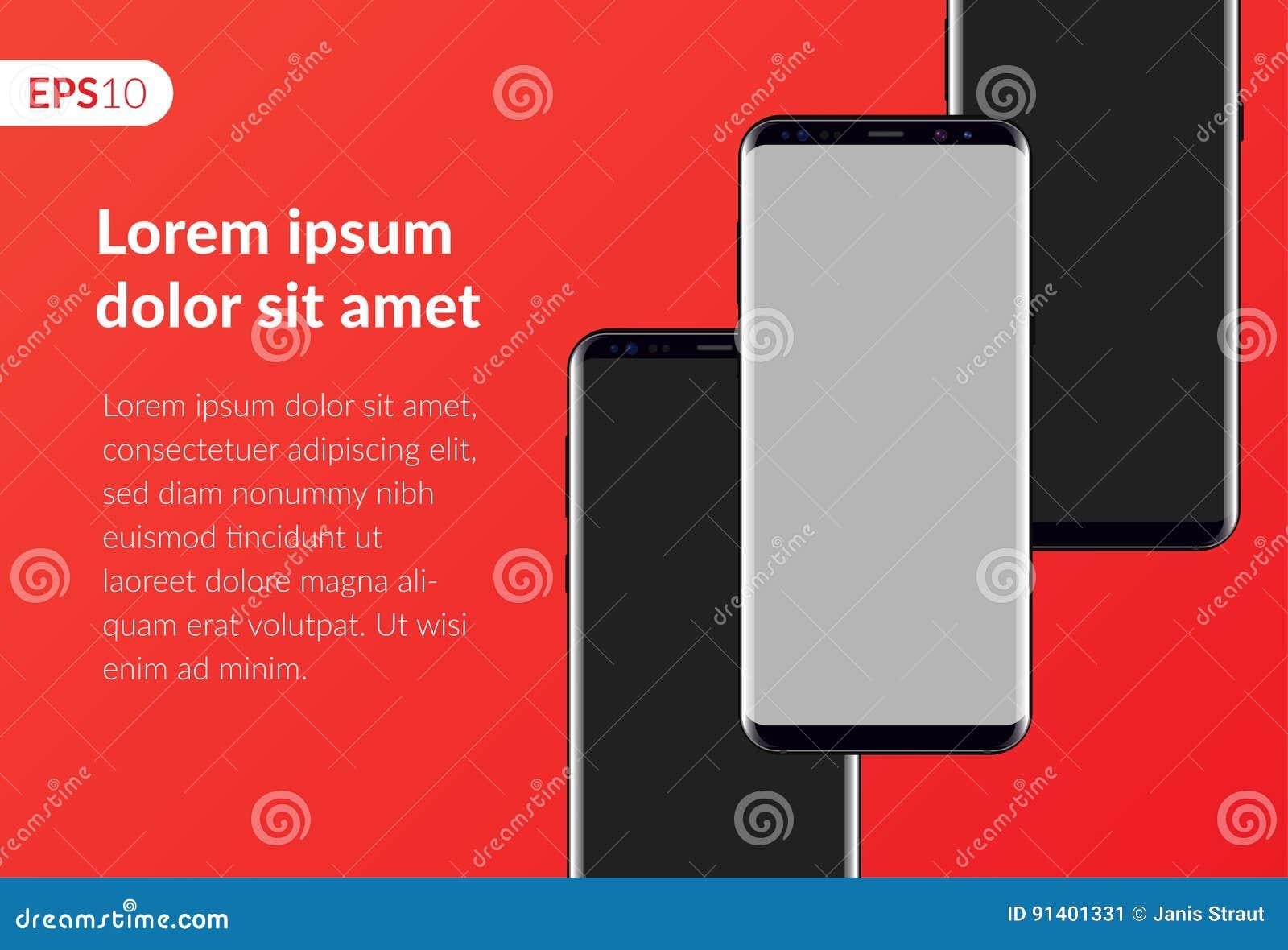 Llame Por Teléfono, Composición Móvil Del Diseño Del Smartphone ...