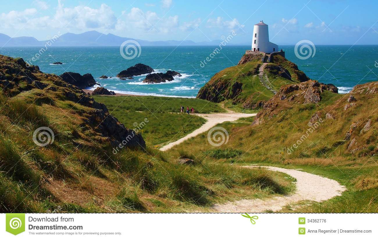 lighthouse in Anglesey, Wales
