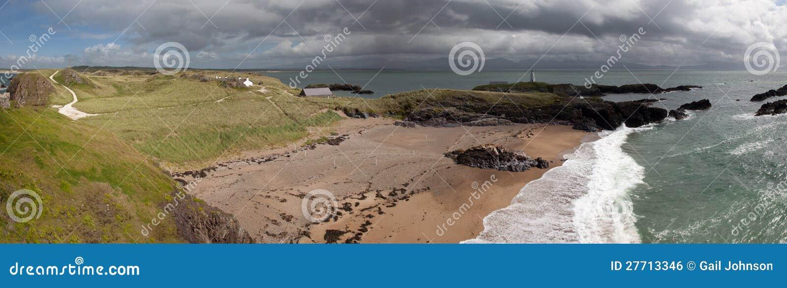 Llandwyn海岛全景