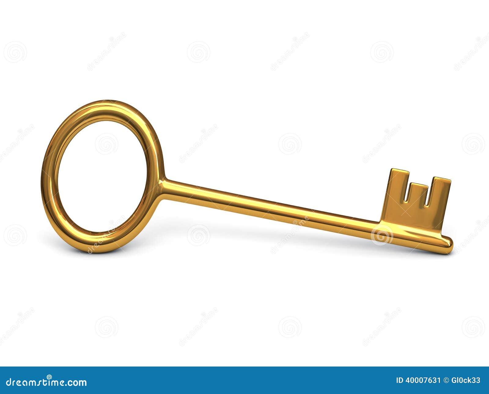 Llave antigua del oro stock de ilustraci n imagen 40007631 - Llaves antiguas de puertas ...