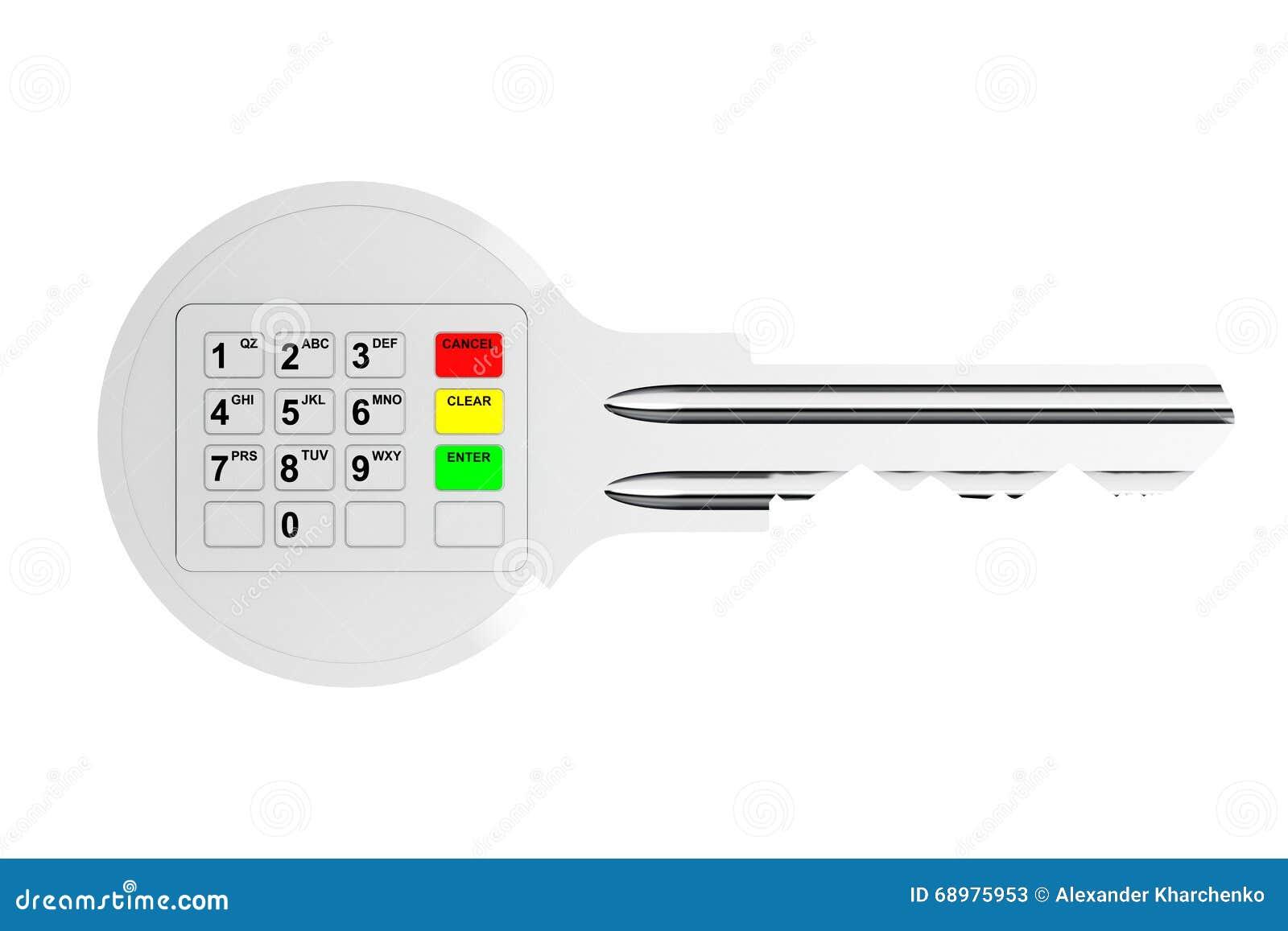 Llave con el telclado numérico de Digitaces