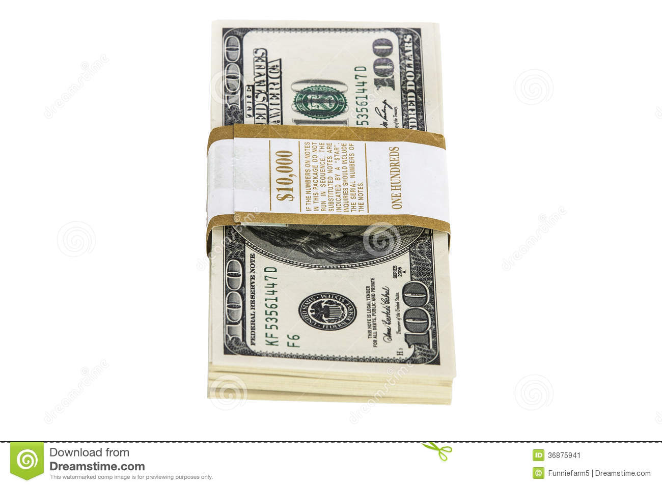 Download Lle Pile Di 100 Banconote In Dollari Isolate Su Bianco Immagine Stock - Immagine di commercio, valuta: 36875941