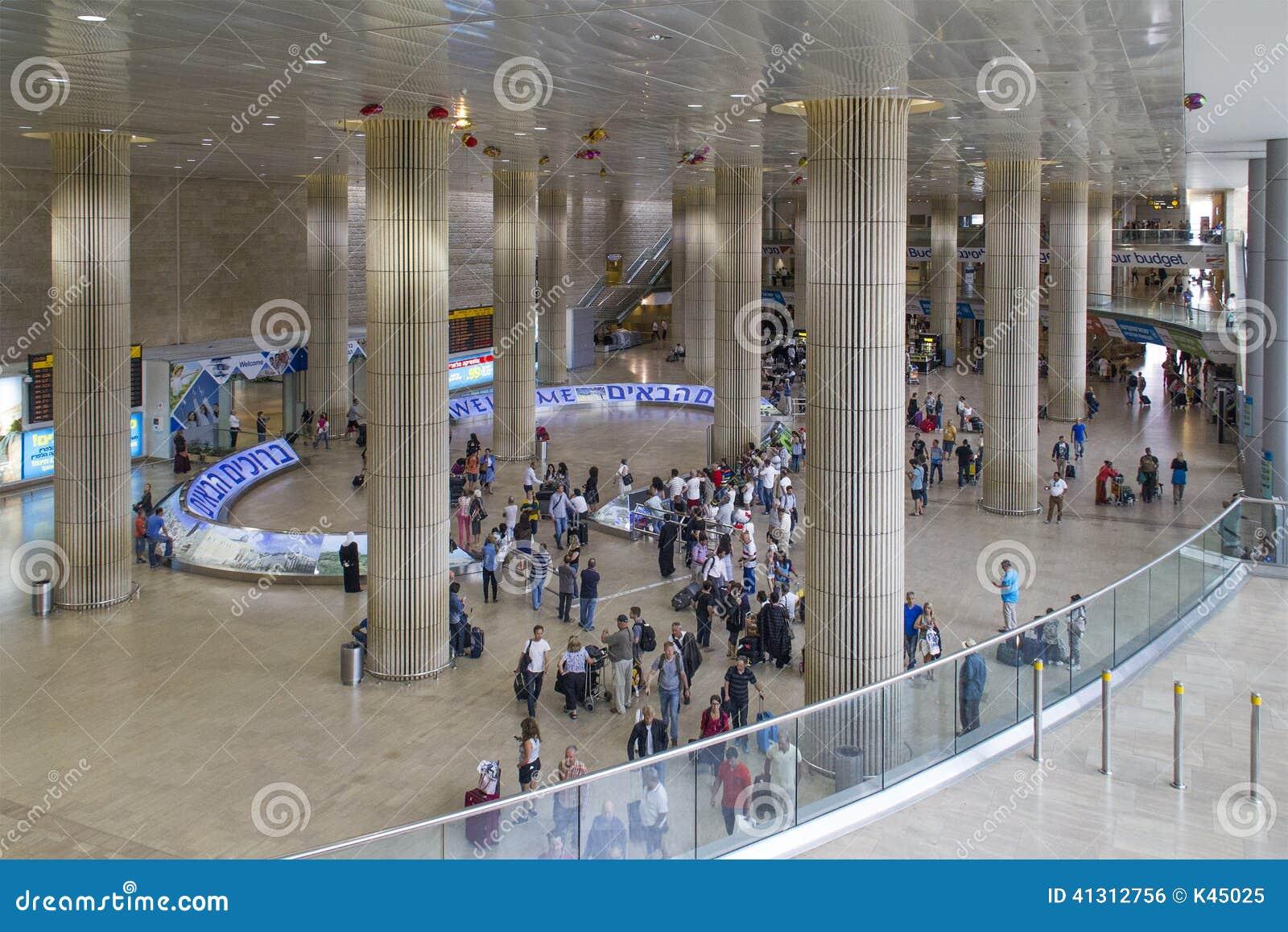 Llegada Pasillo Del Aeropuerto En Tel Aviv Israel Foto Editorial