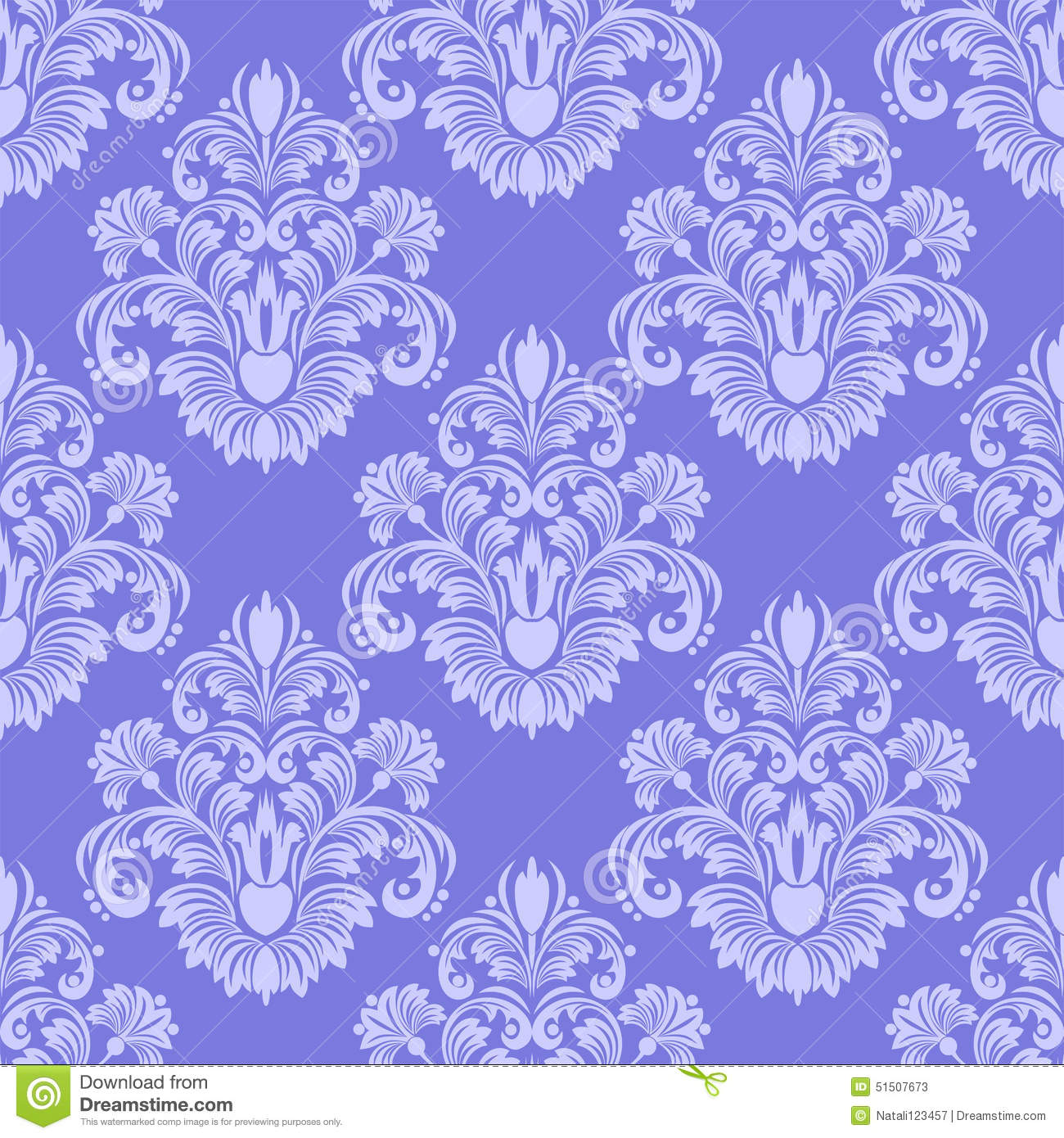 Llight blue seamless damask wallpaper stock vector - Light blue linen wallpaper ...