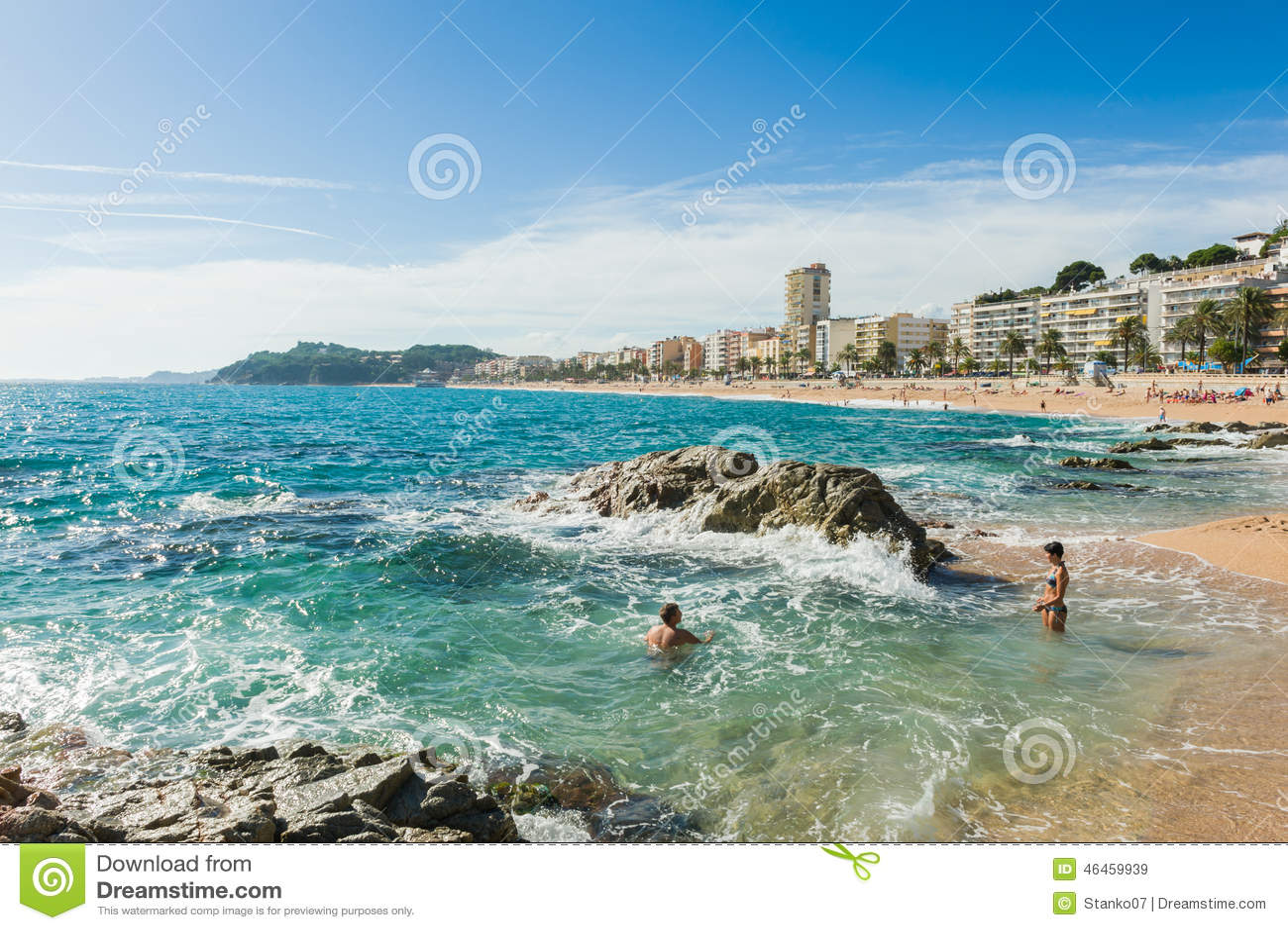 Lloret De Mar Beach Editorial Stock Image Image 46459939