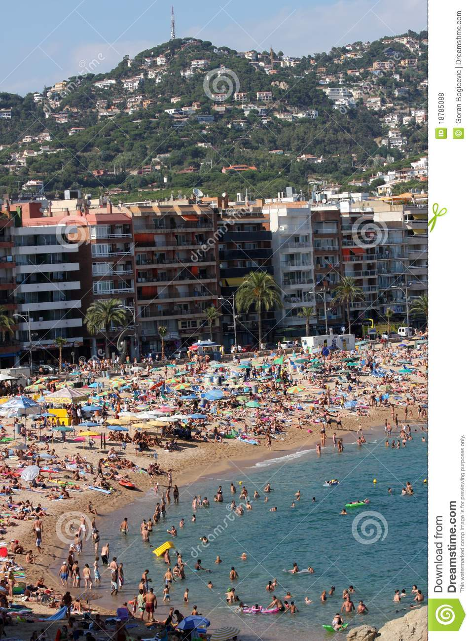 Lloret De Mar Spain  city photos gallery : Lloret De Mar, Spain Editorial Stock Photo Image: 18785088