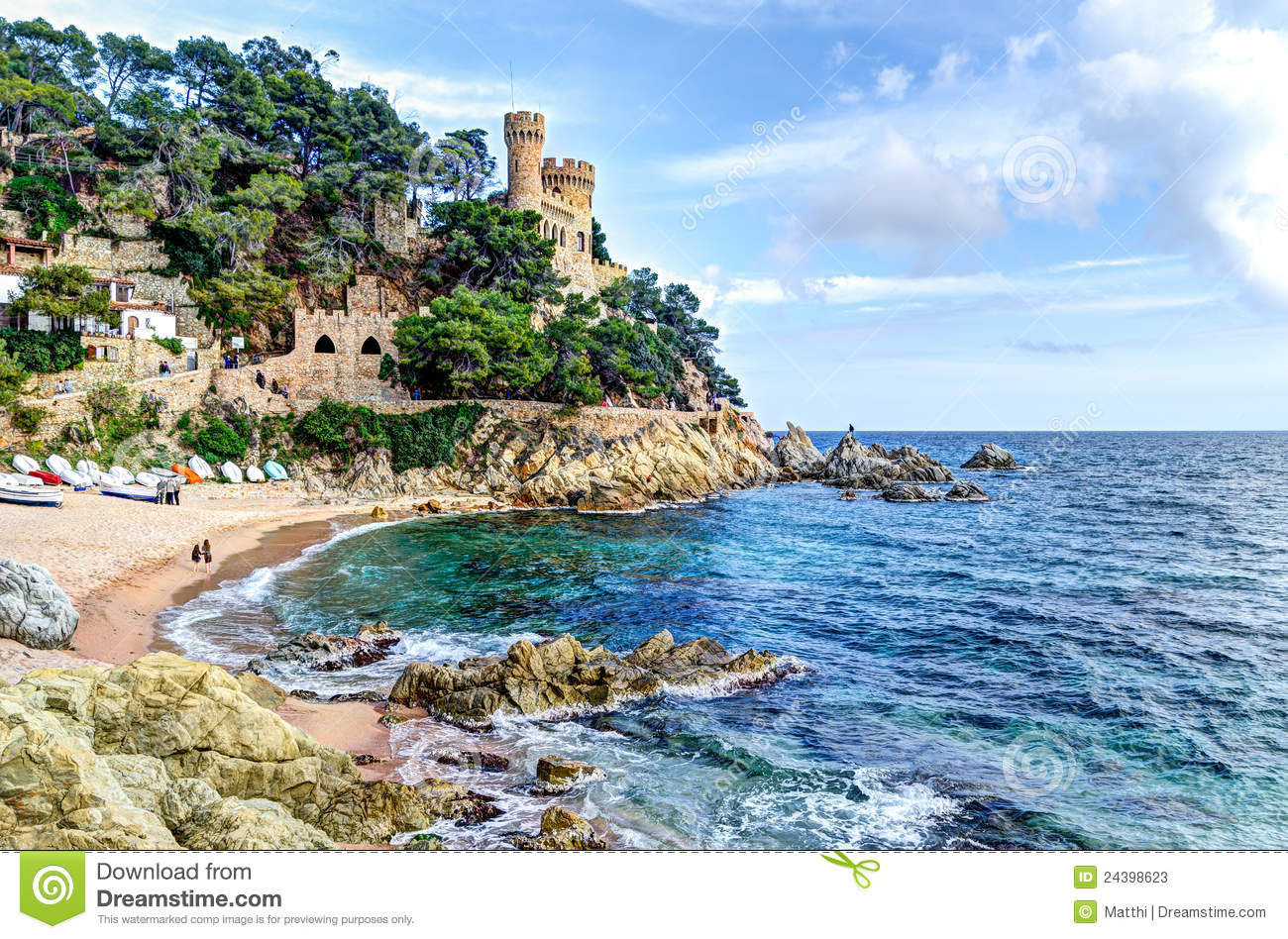 Lloret De Mar Spain  city images : ... sea at the Costa Brava Sant Joan Castle, Lloret de Mar, Spain