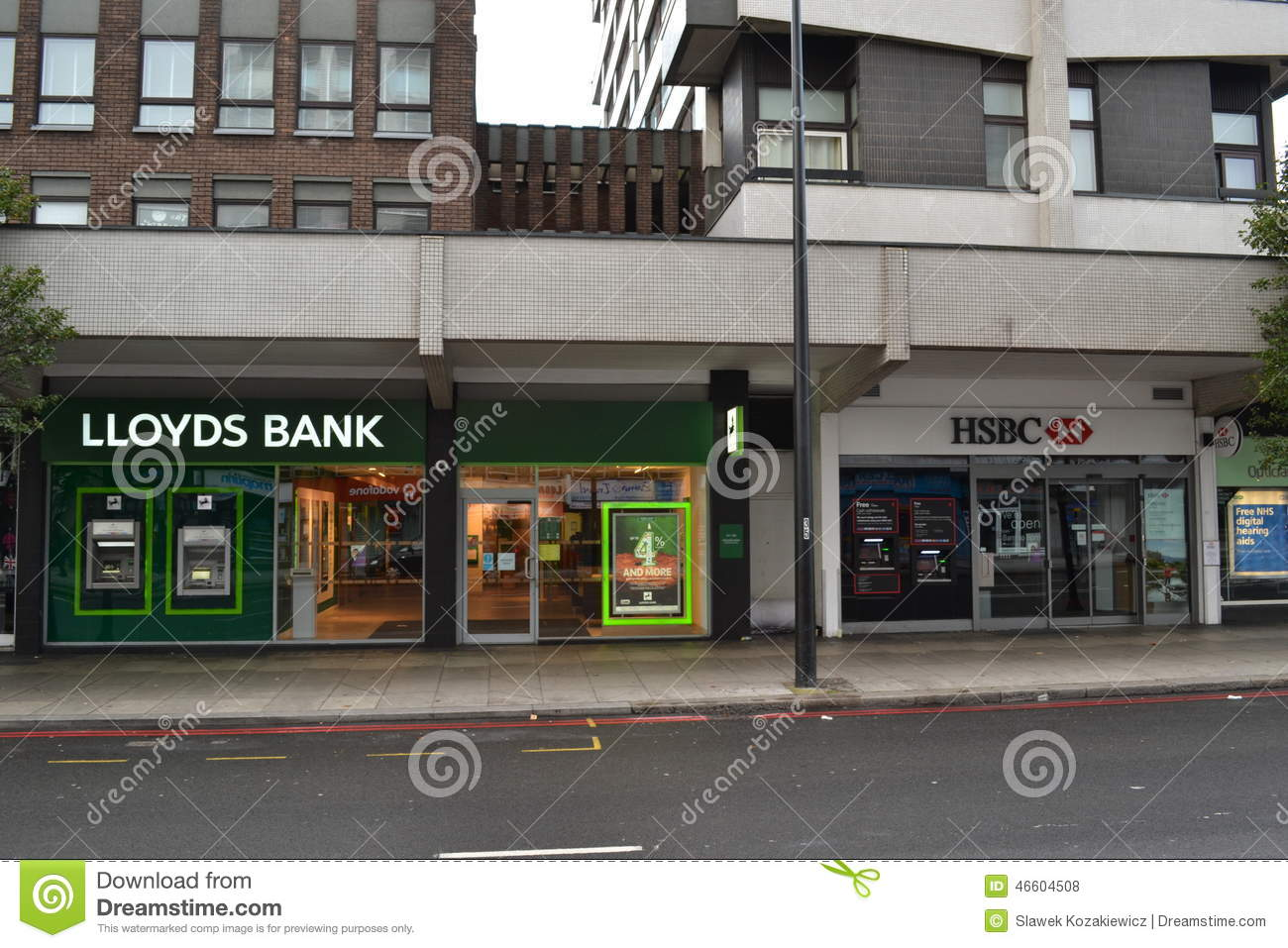 Lloyds And HSBC Bank Branches Editorial Stock Photo - Image of