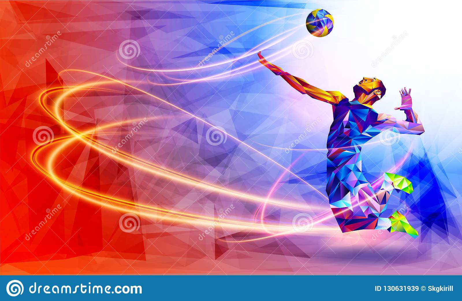 Volleyball Abstract Stock Photos Volleyball Abstract: Llustration Of Abstract Volleyball Player Silhouette In