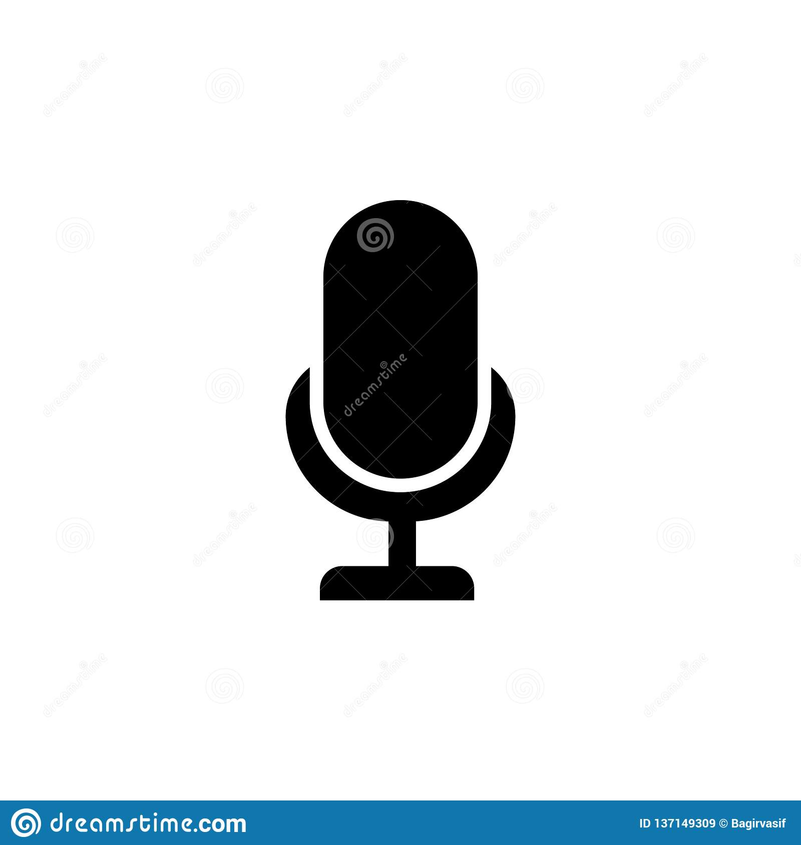 Llustration Of Mic Sign  Karaoke Microphone Icon  Mic Vector