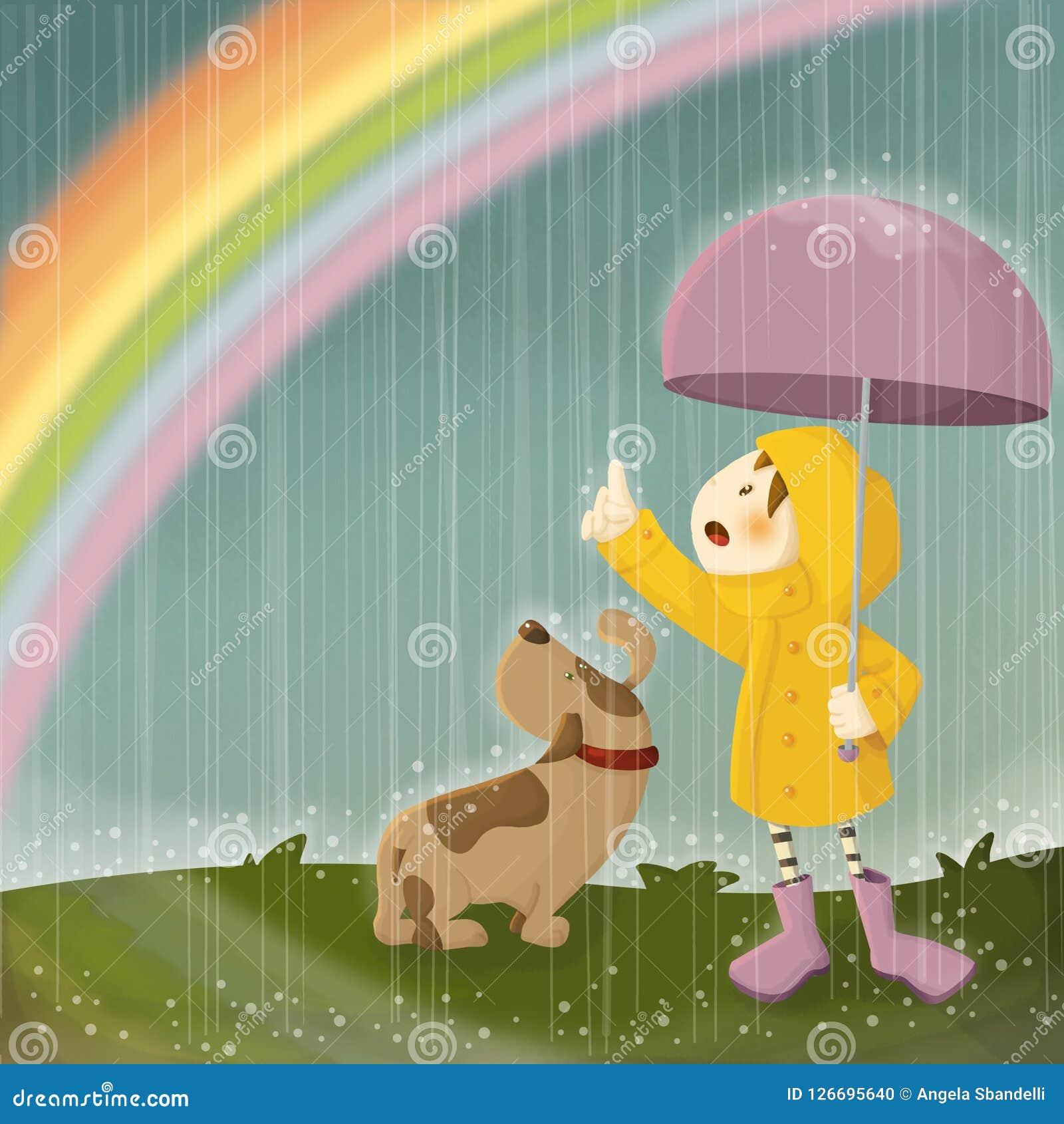 Lluvias y arco iris