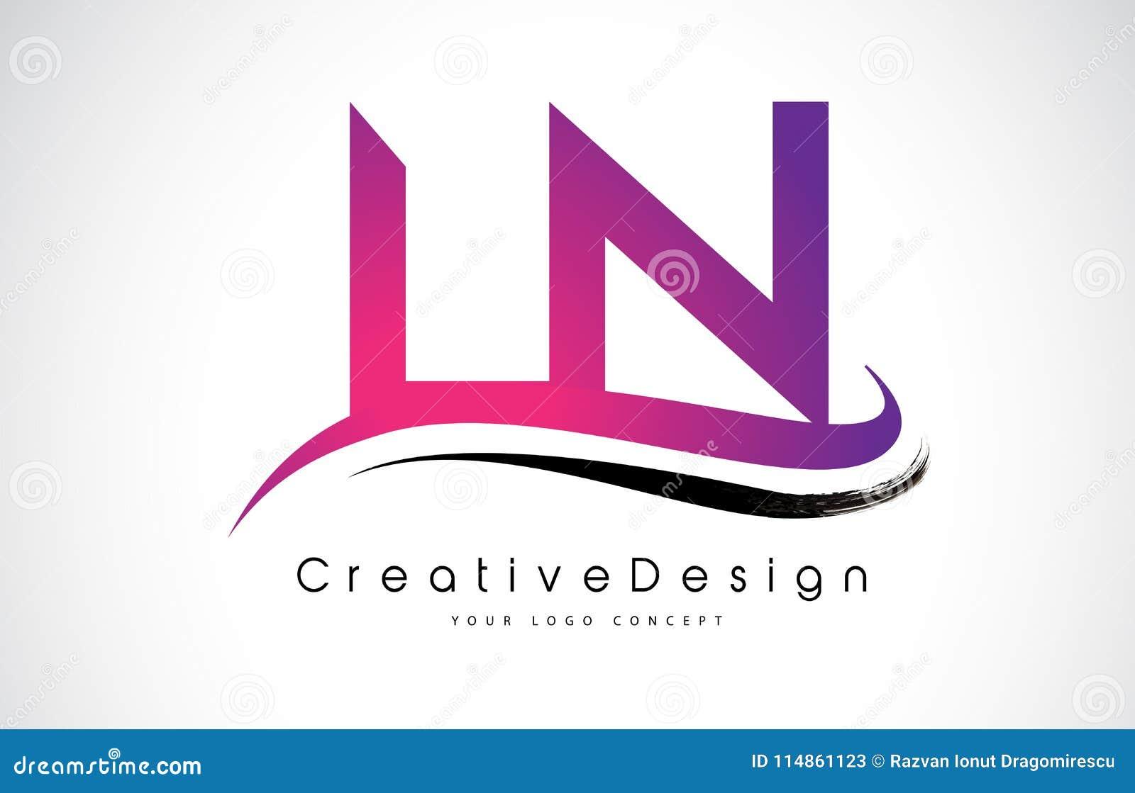 LN L N Letter Logo Design. Creative Icon Modern Letters Vector L ...