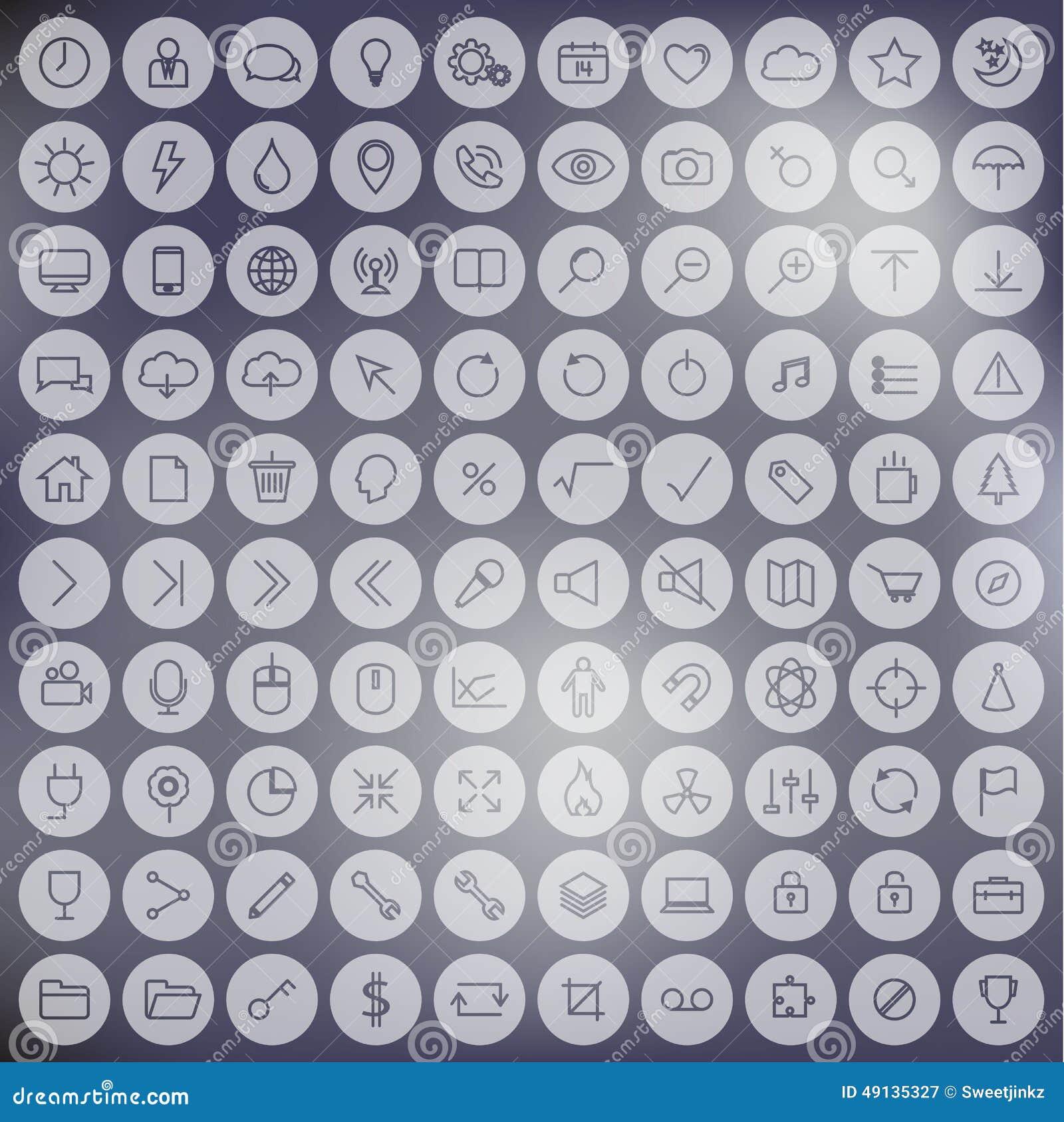 L nea minimalista sistema universal del icono en fondo de for Minimalista definicion