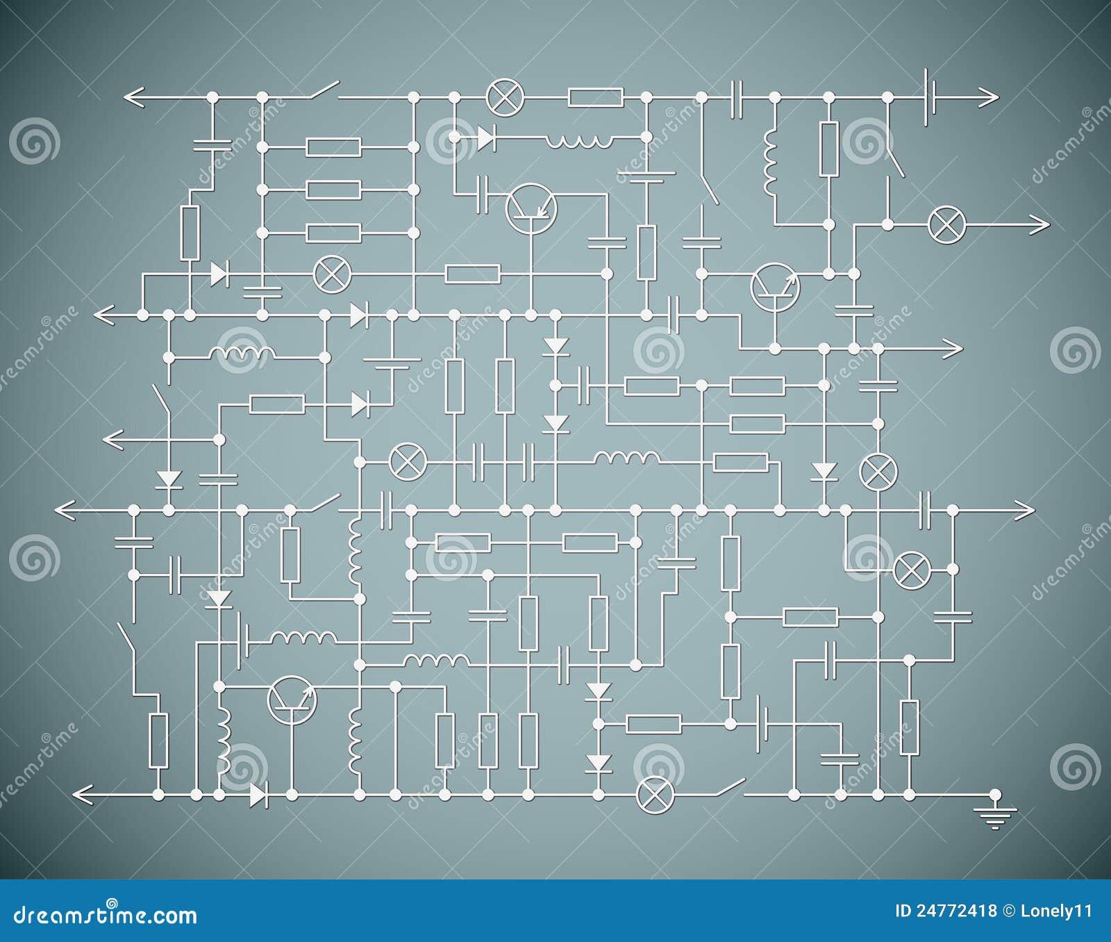 Schema Elettrico : Lo schema elettrico illustrazione vettoriale illustrazione di