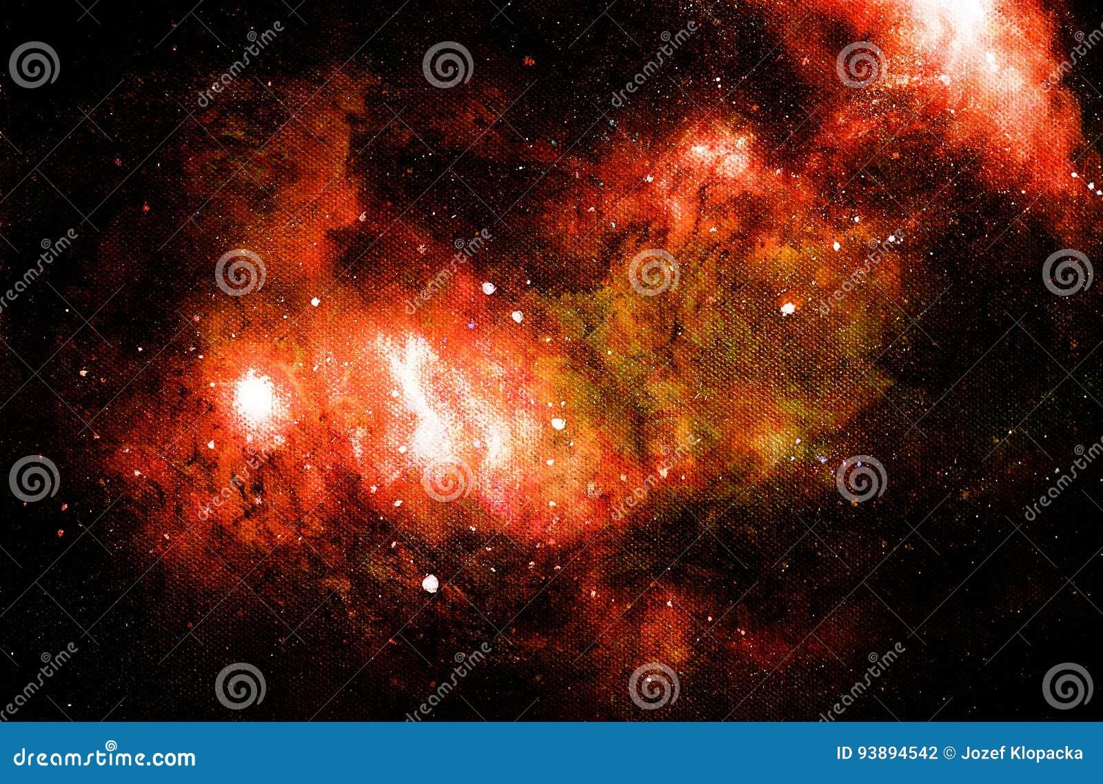Lo spazio e le stelle cosmici, colorano il fondo astratto cosmico Collage del computer da pittura originale