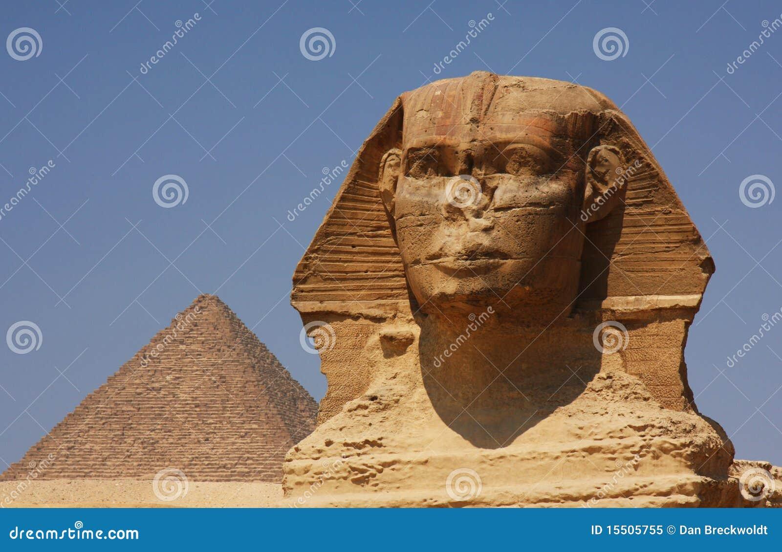 Lo Sphinx e la piramide nell Egitto