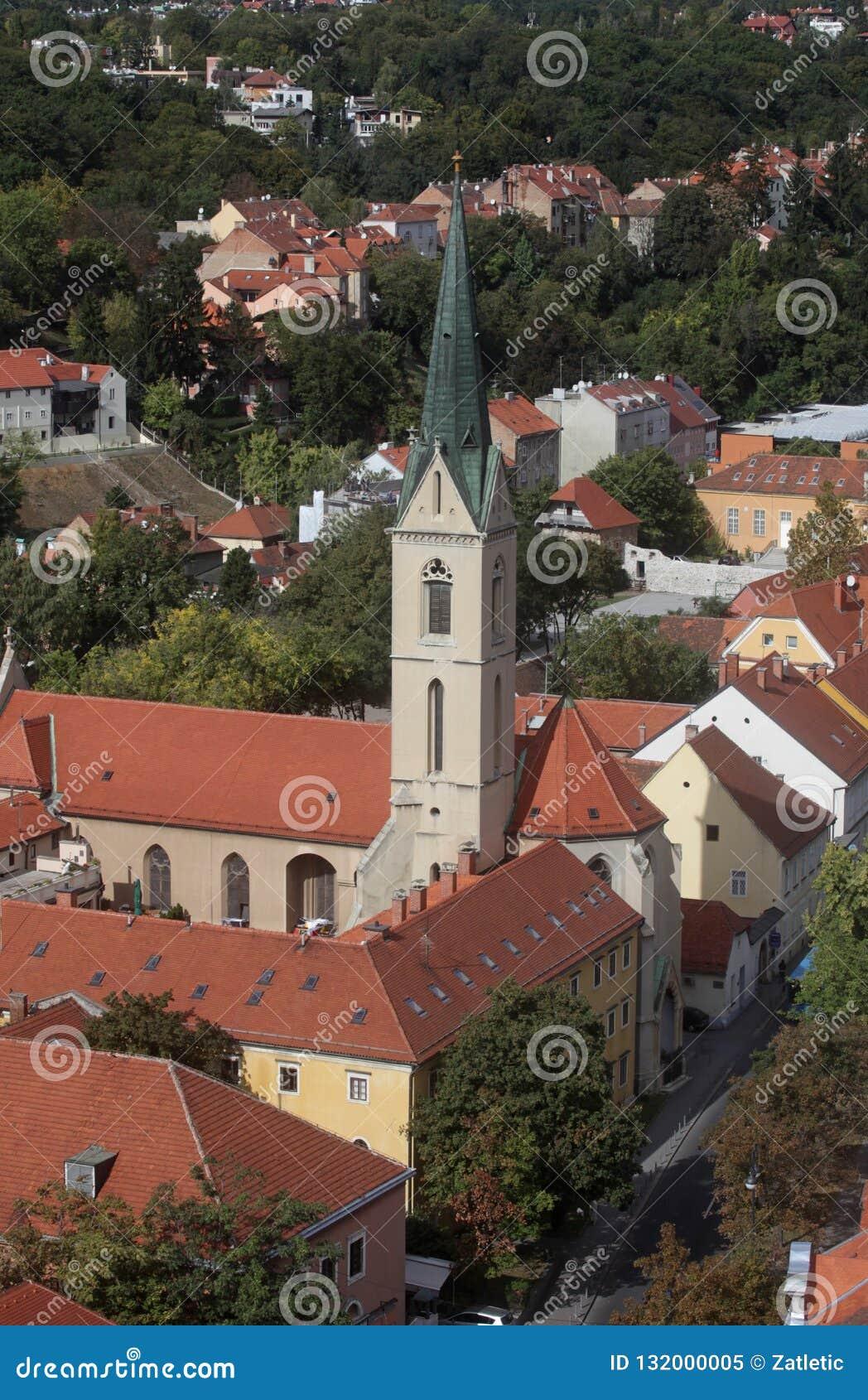 Lo St Francis della chiesa di Assisi a Zagabria
