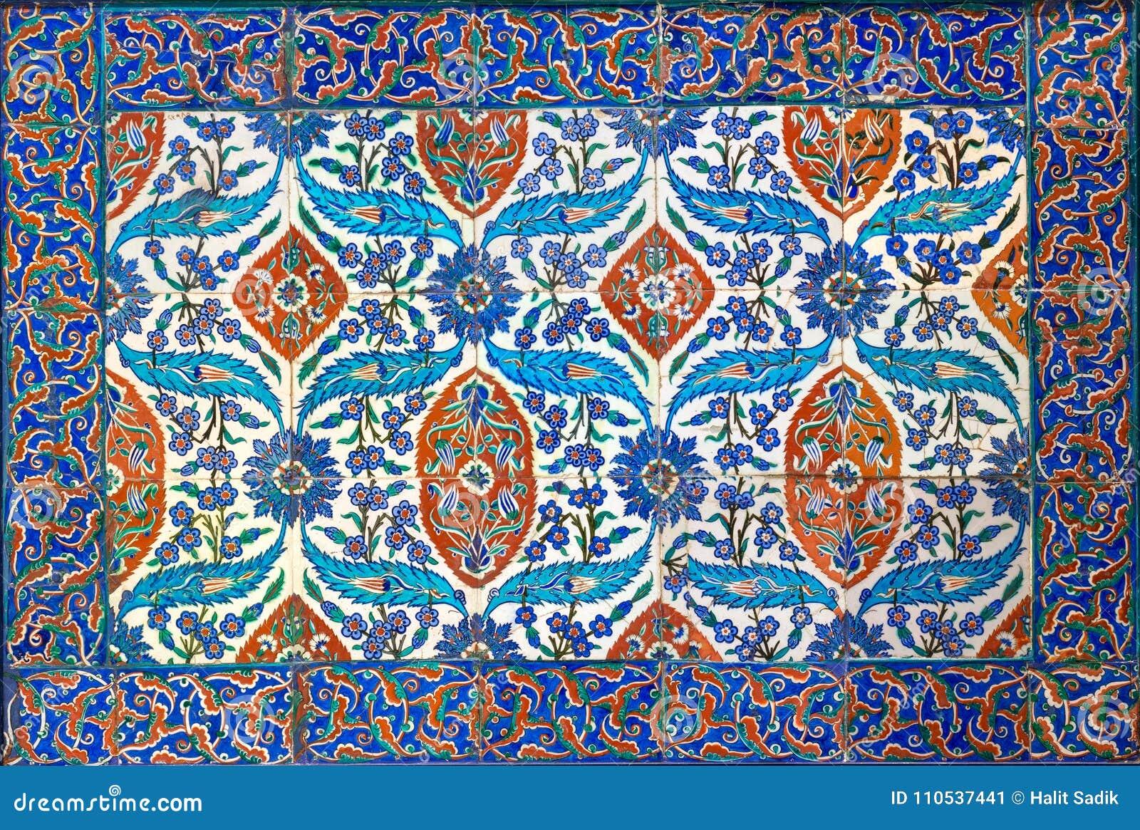 Piastrelle Di Ceramica Decorate.Lo Stile Di Era Dell Ottomano Ha Lustrato Le Piastrelle Di