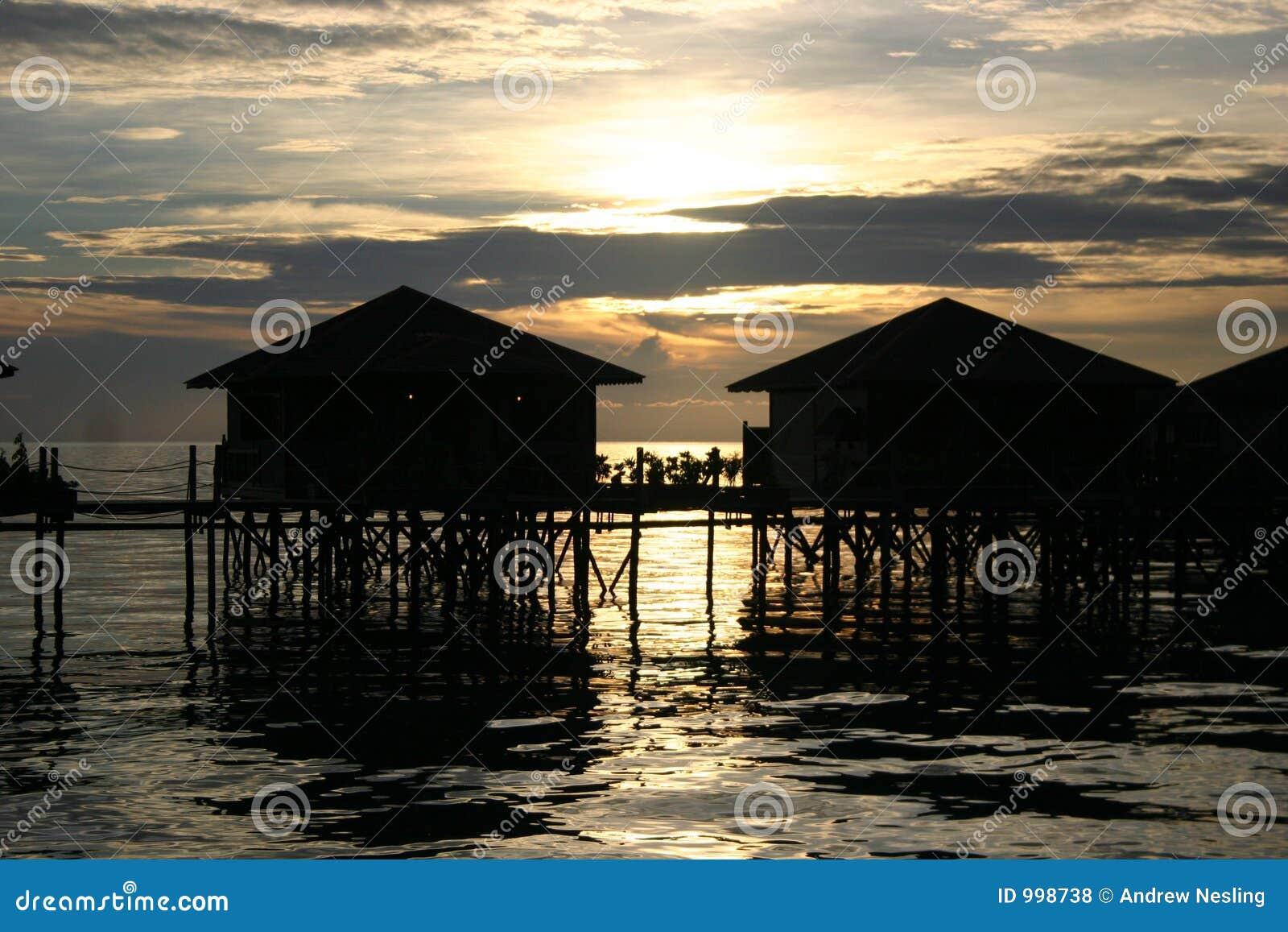 Lo Stilt alloggia @ il tramonto