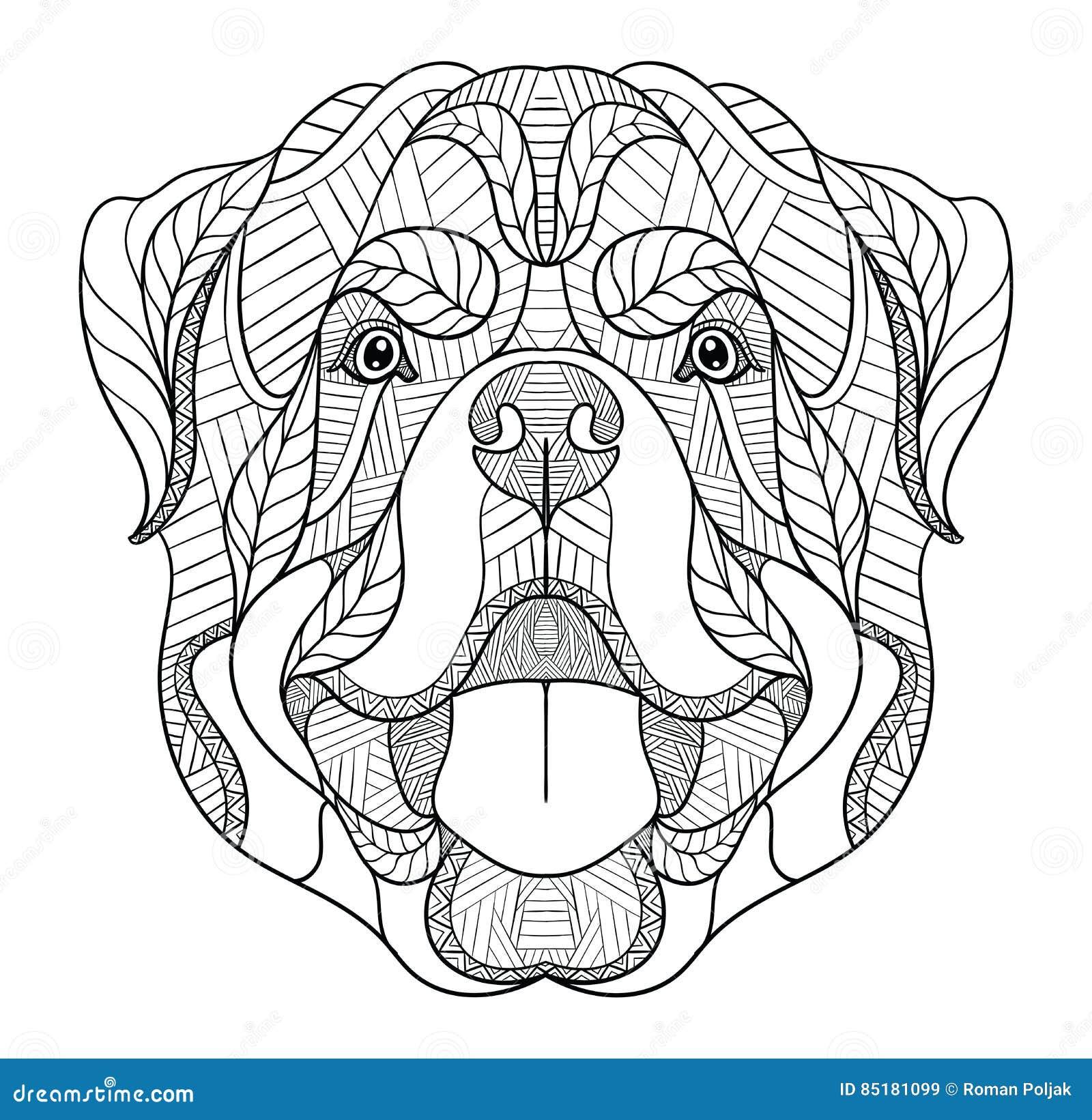 disegni da colorare cani rottweiler