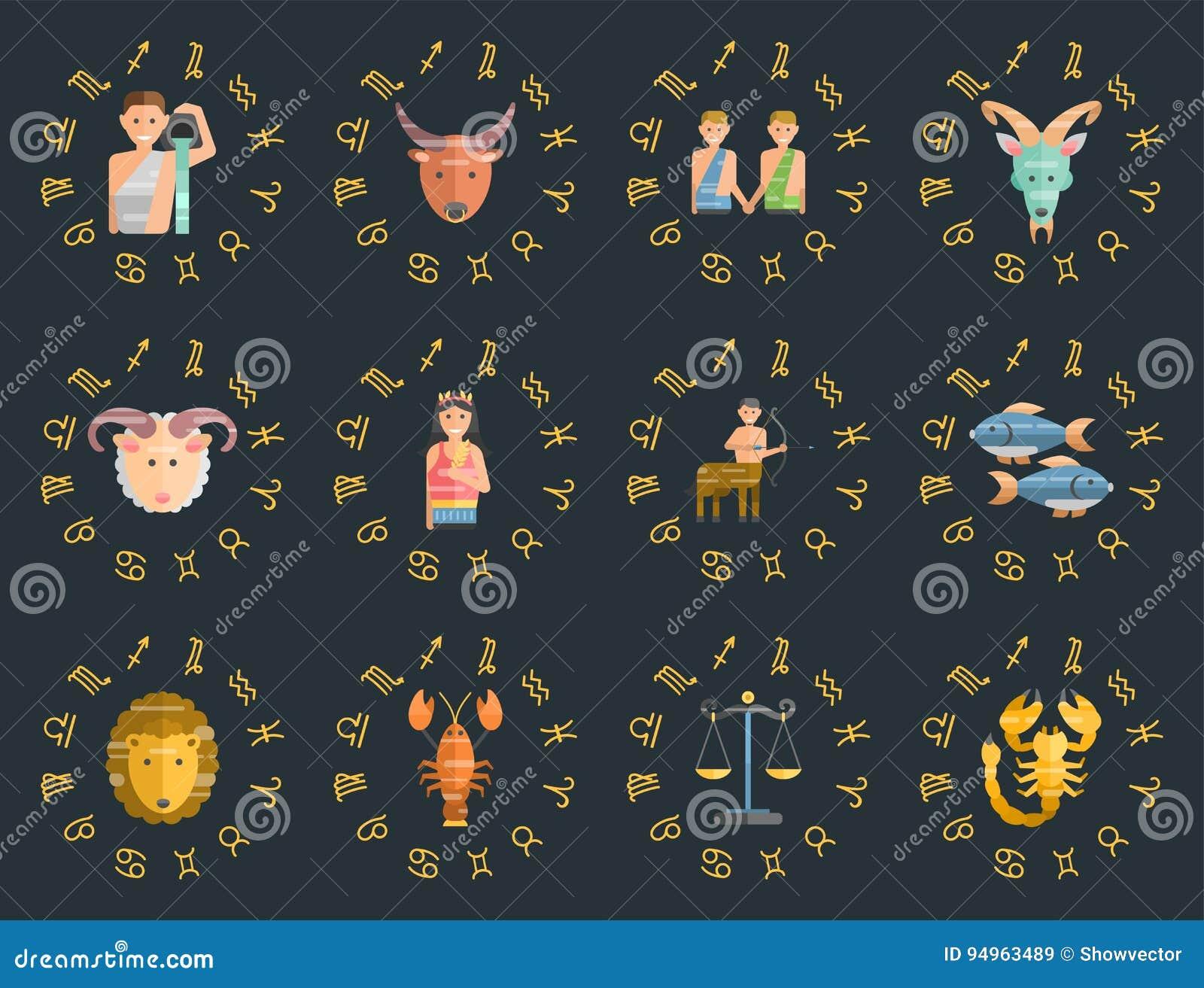 Calendario Esoterico.Lo Zodiaco Firma L Insieme Piano Della Figura Ascendente