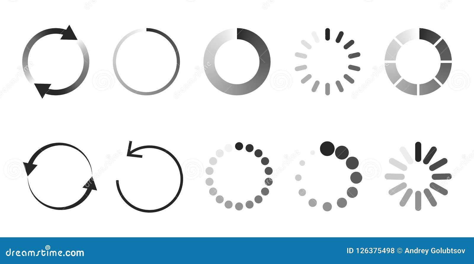 Load icon. Circle website buffer loader or preloader.
