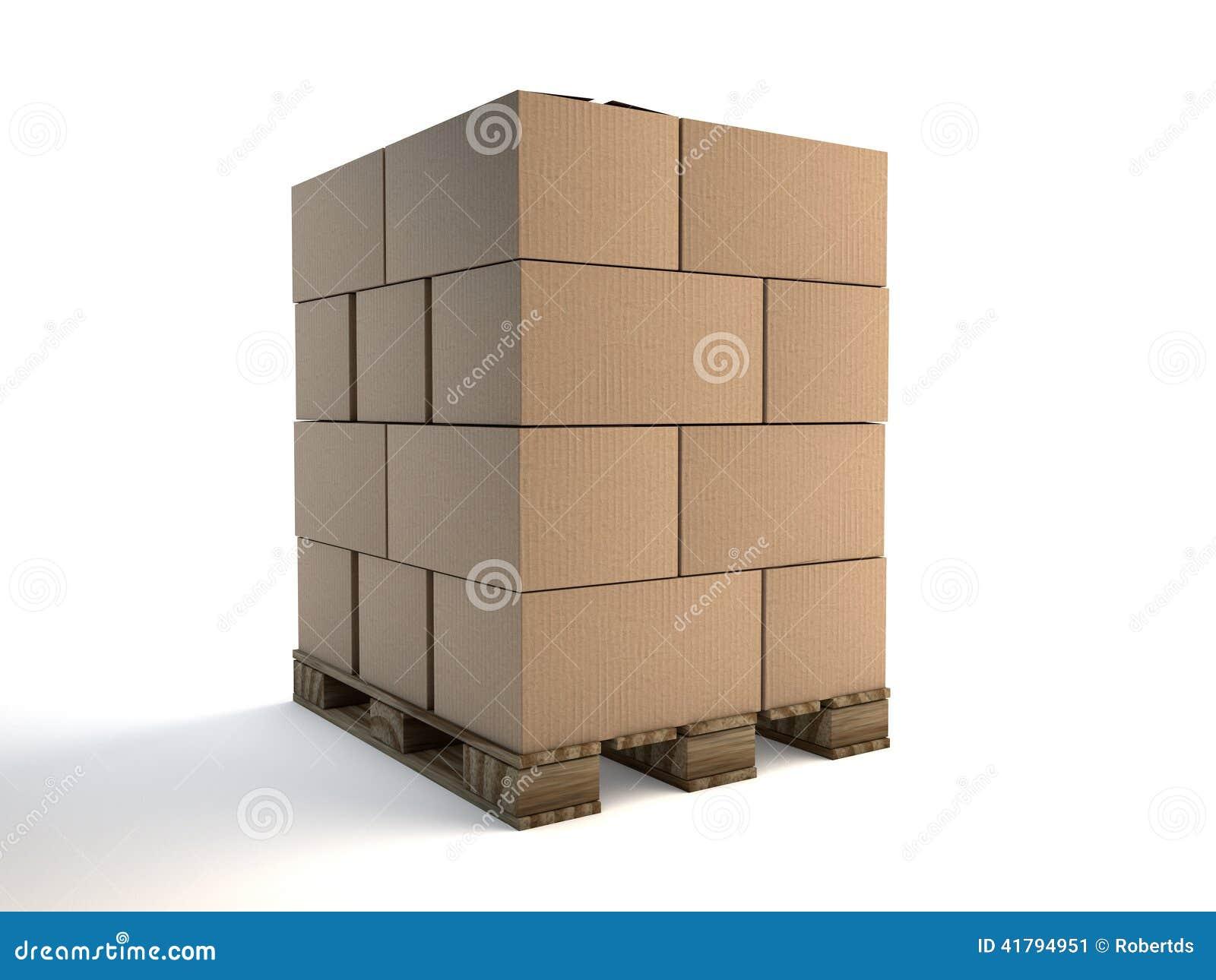 Loaded Pallet Stock Illustration