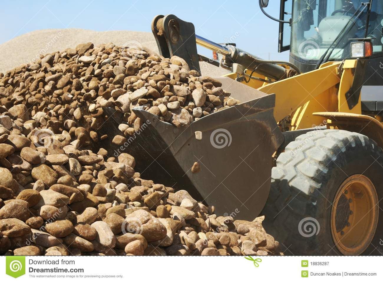 Loader and Stones on Quarry