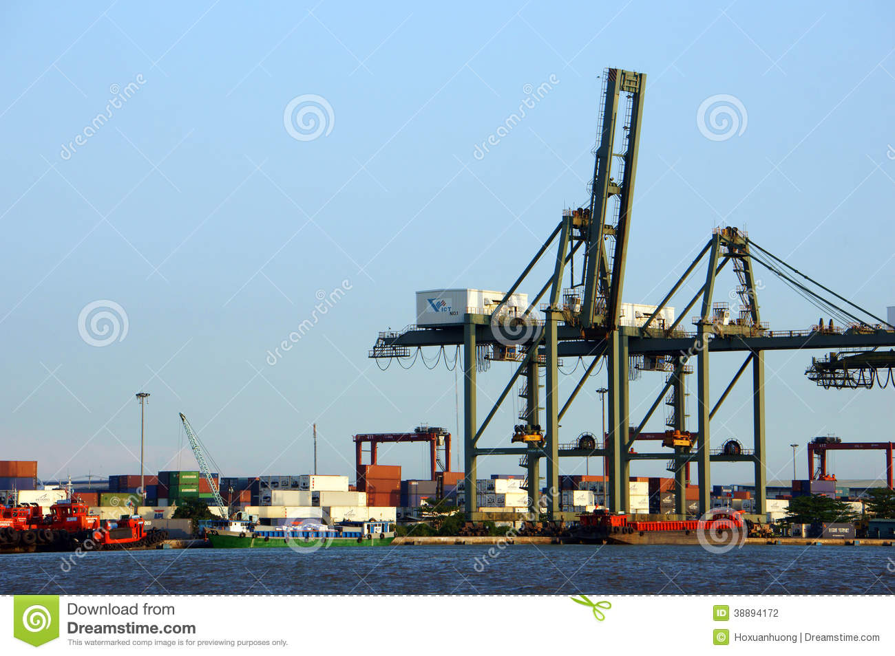 loading container at port maritime transport editorial photography image 38894172. Black Bedroom Furniture Sets. Home Design Ideas