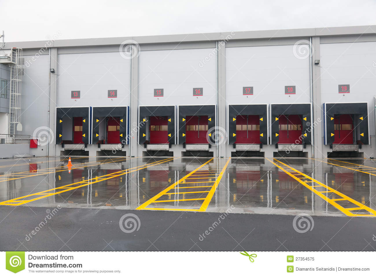Loading Docks Royalty Free Stock Photo Image 27354575