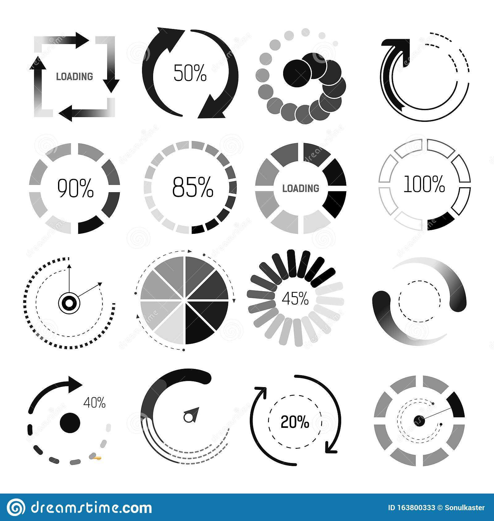 Process Web Download Or Update Set Icons. Buffer And Loading ...   1689x1600