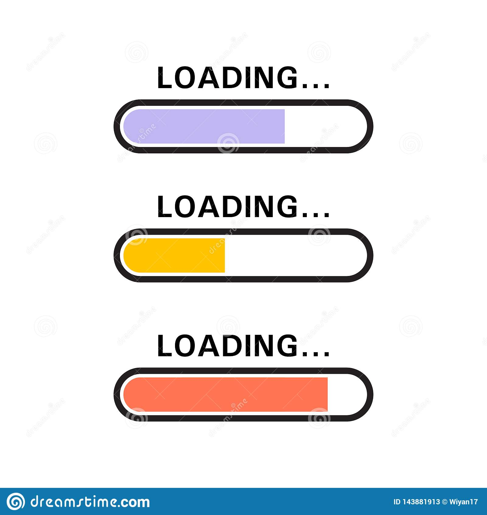 Loading Icon in blue, yellow, red color.