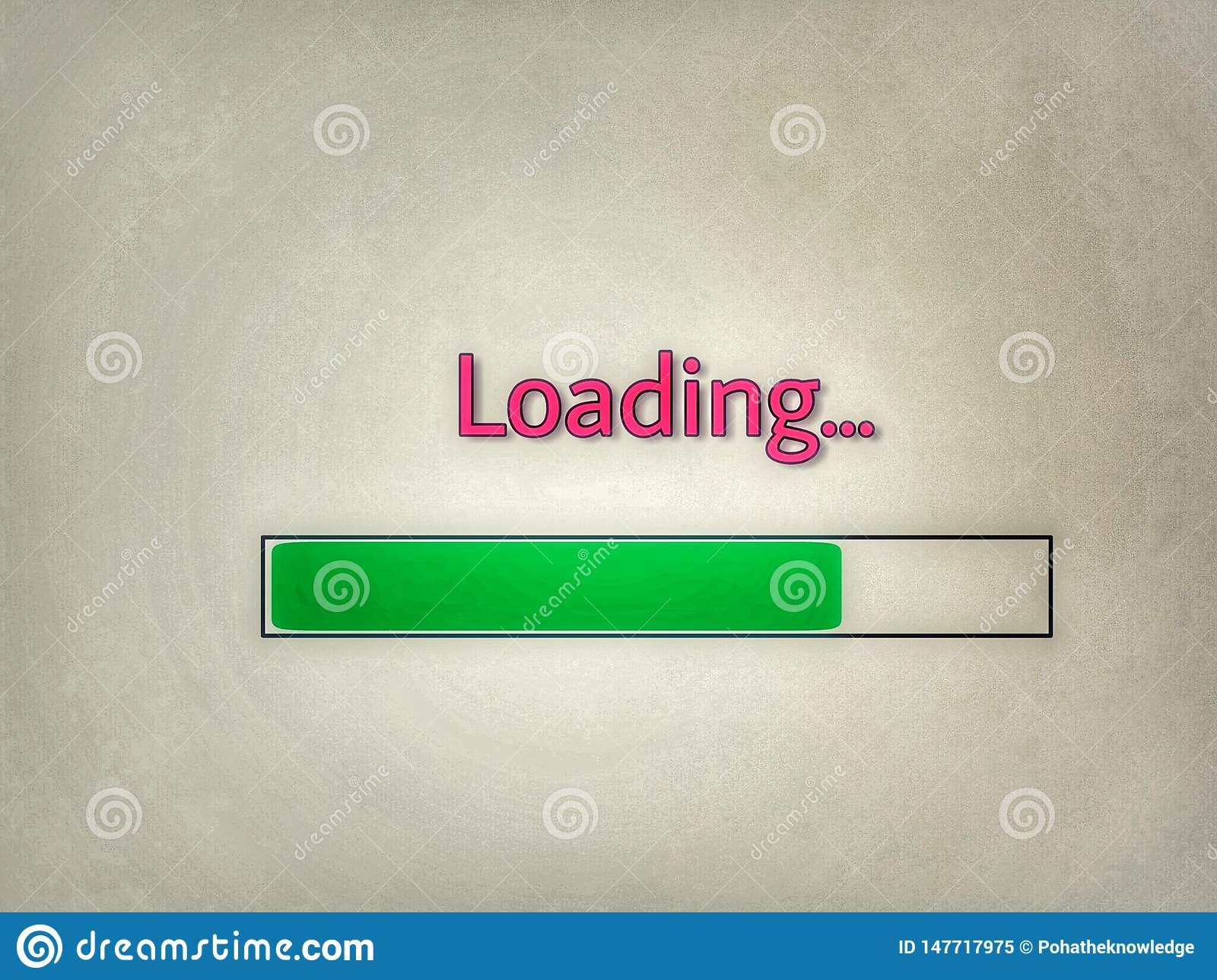 Loading icon with green line