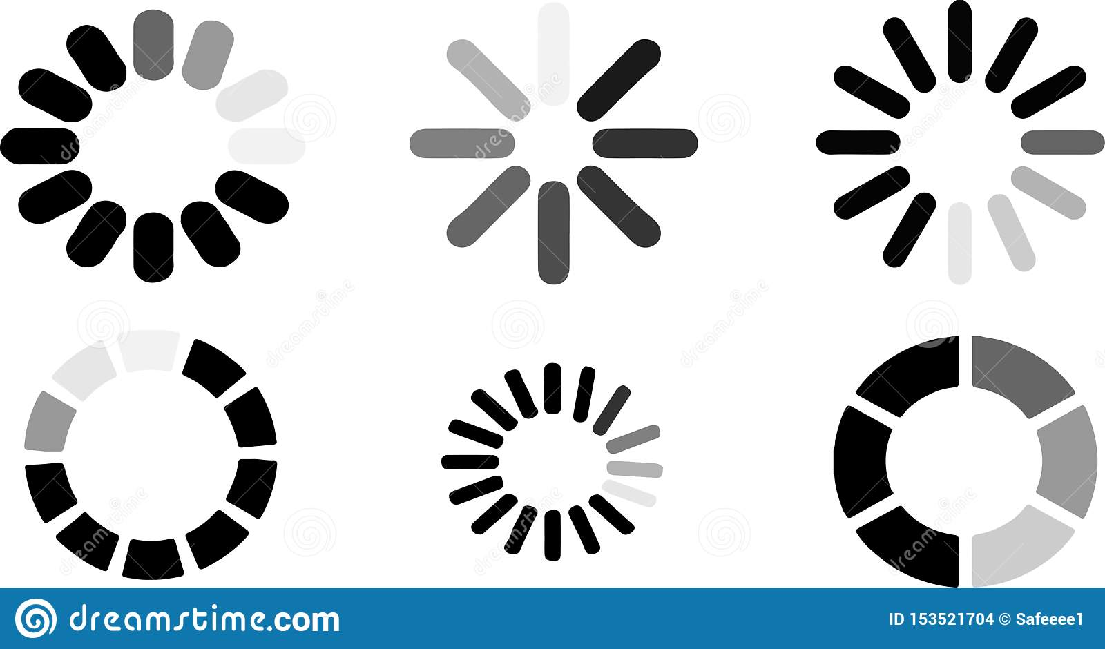 Loading icon on white background