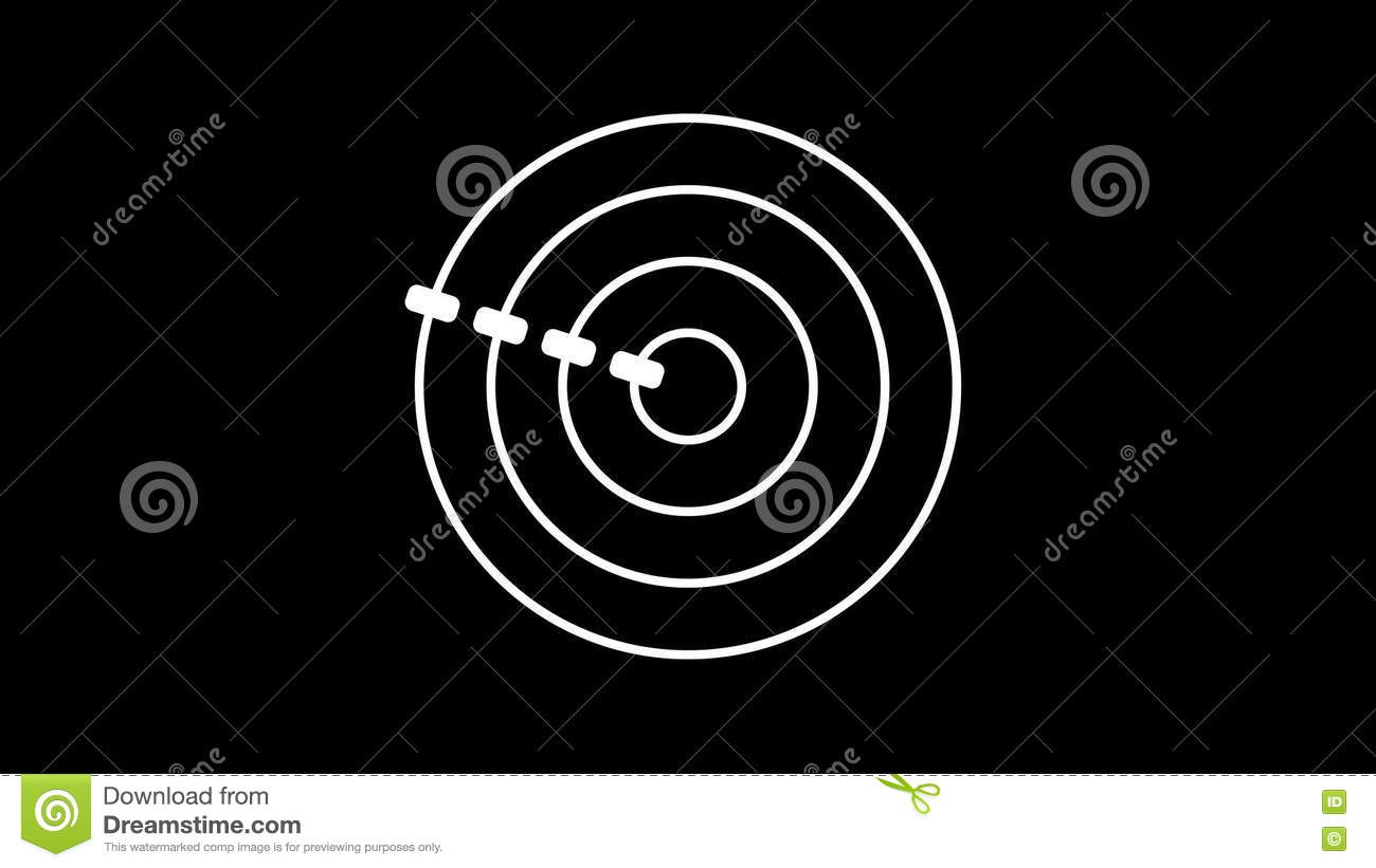 Loading Screen Circular White Gray On Black Background 30fps Loop Video Texture Seamless Animated Element Stock Footage Video Of Radar Screen 75469352