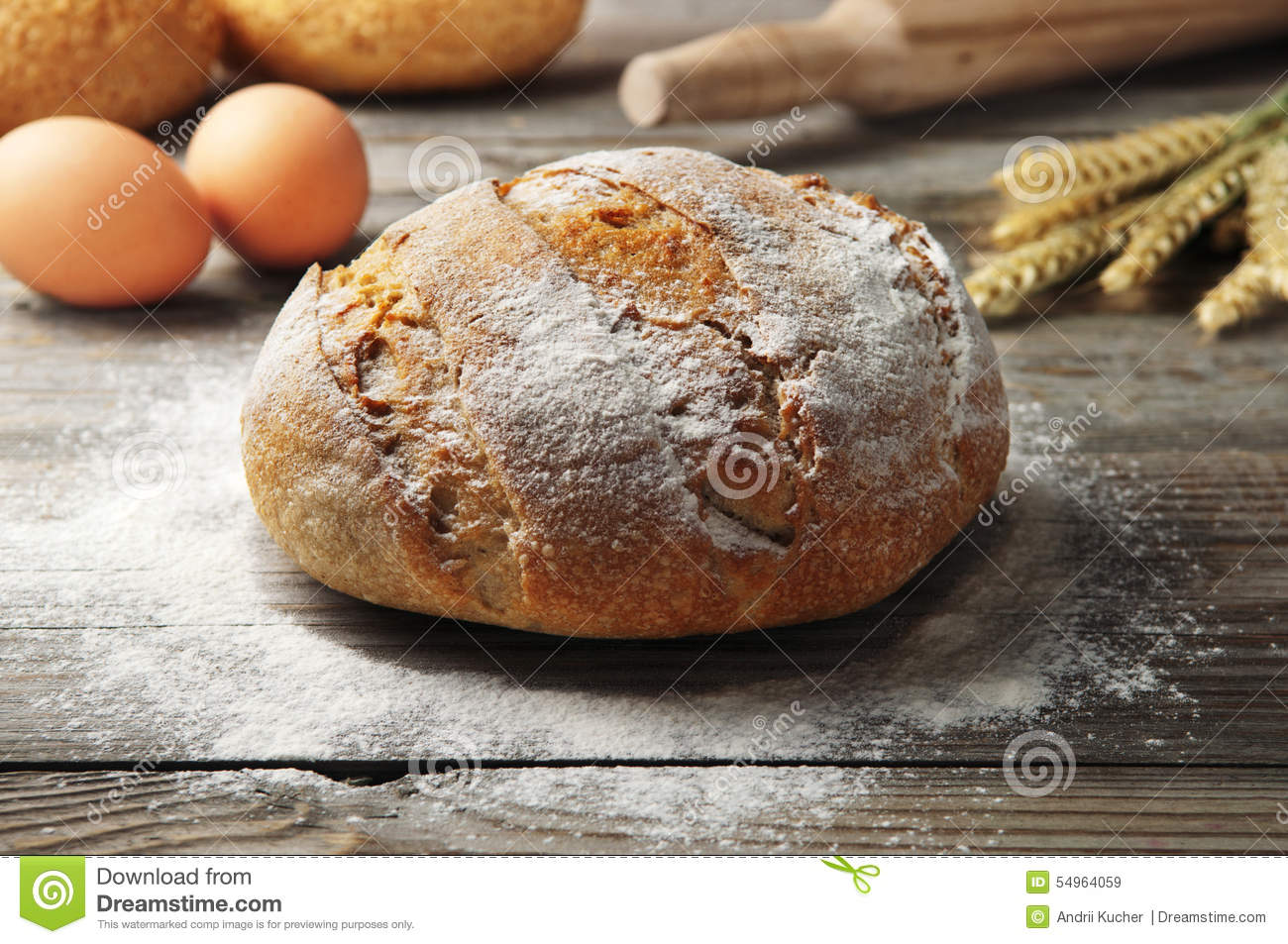 Loaf Bread Stock Photo Image 54964059
