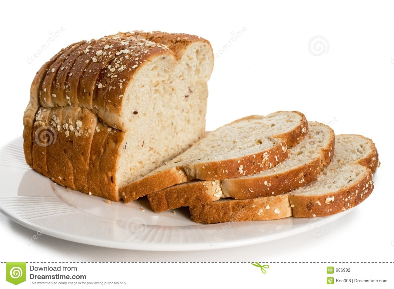 Loaf Of Sliced Bread On Plate Stock Photography Image