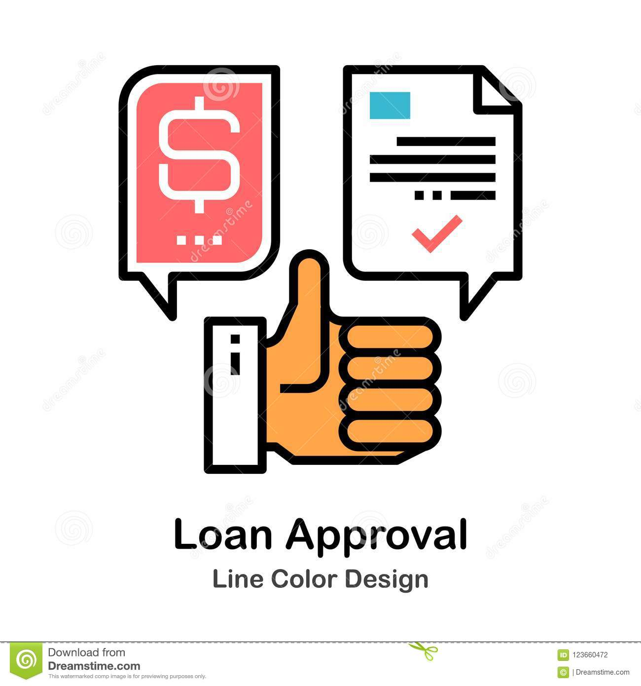 Loan Approval Line Color Icon